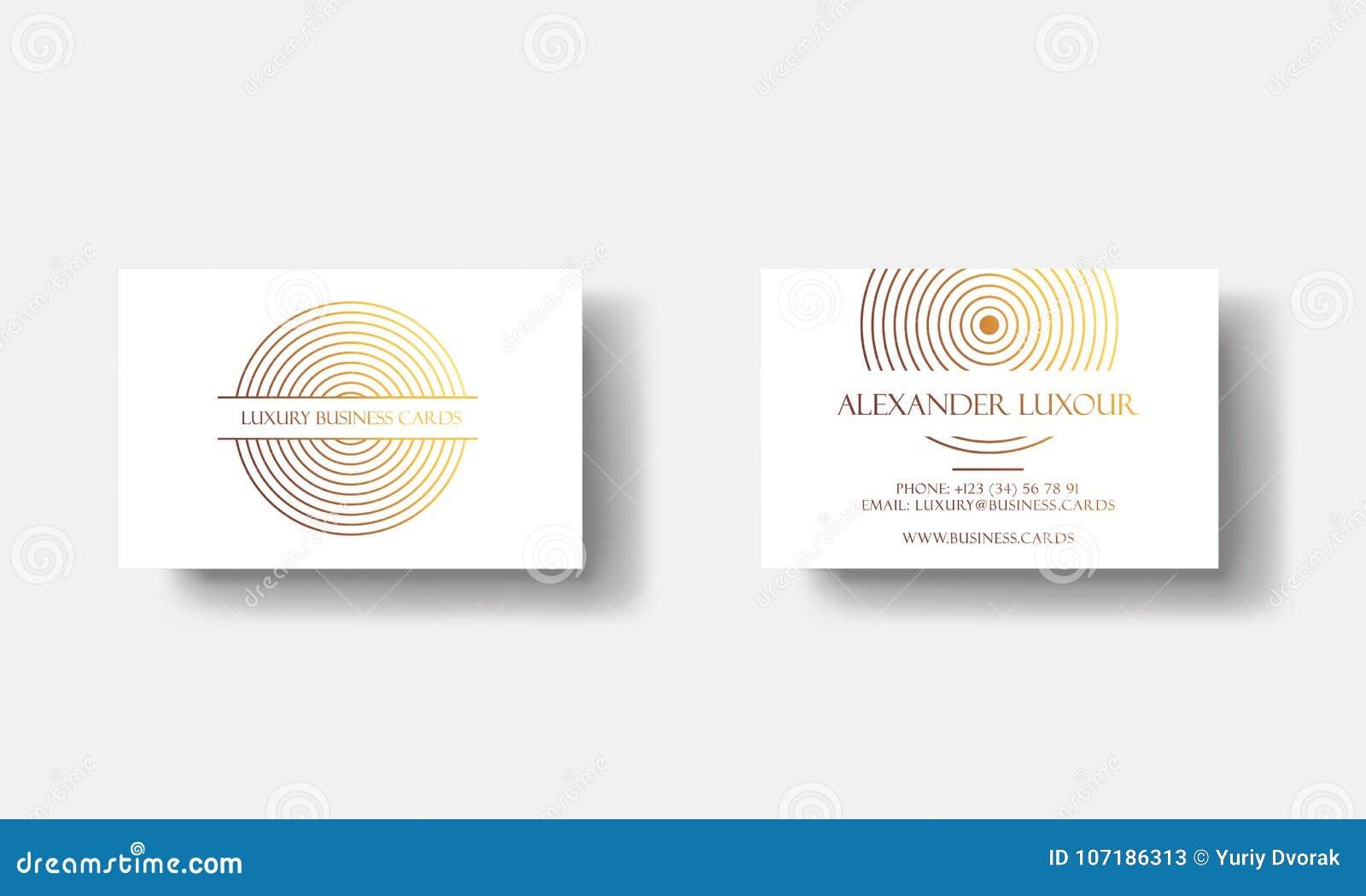 Cartes De Visite Professionnelle Luxe D Or Blanc Pour L Evenement VIP