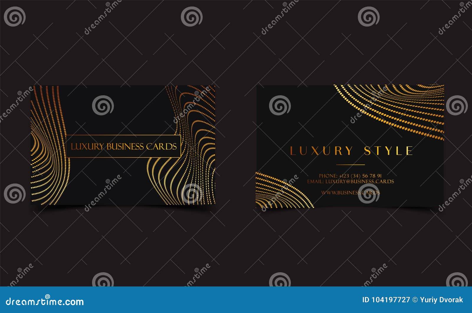 Cartes De Visite Professionnelle De Visite De Luxe Dor Noir Pour L
