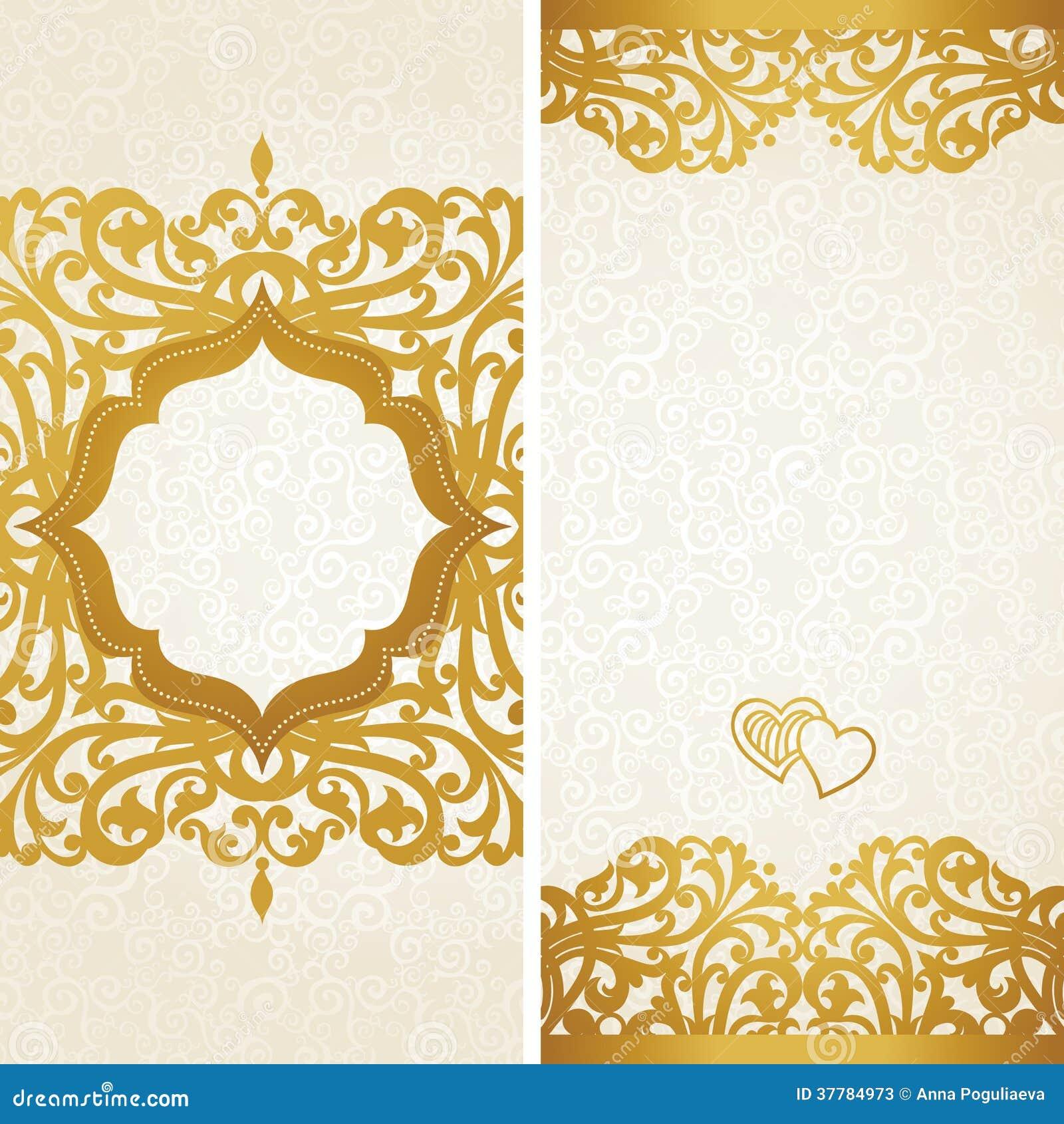 Cartes de voeux de vintage avec des remous et des motifs floraux dans le r tro style photos - Motif carte de voeux ...