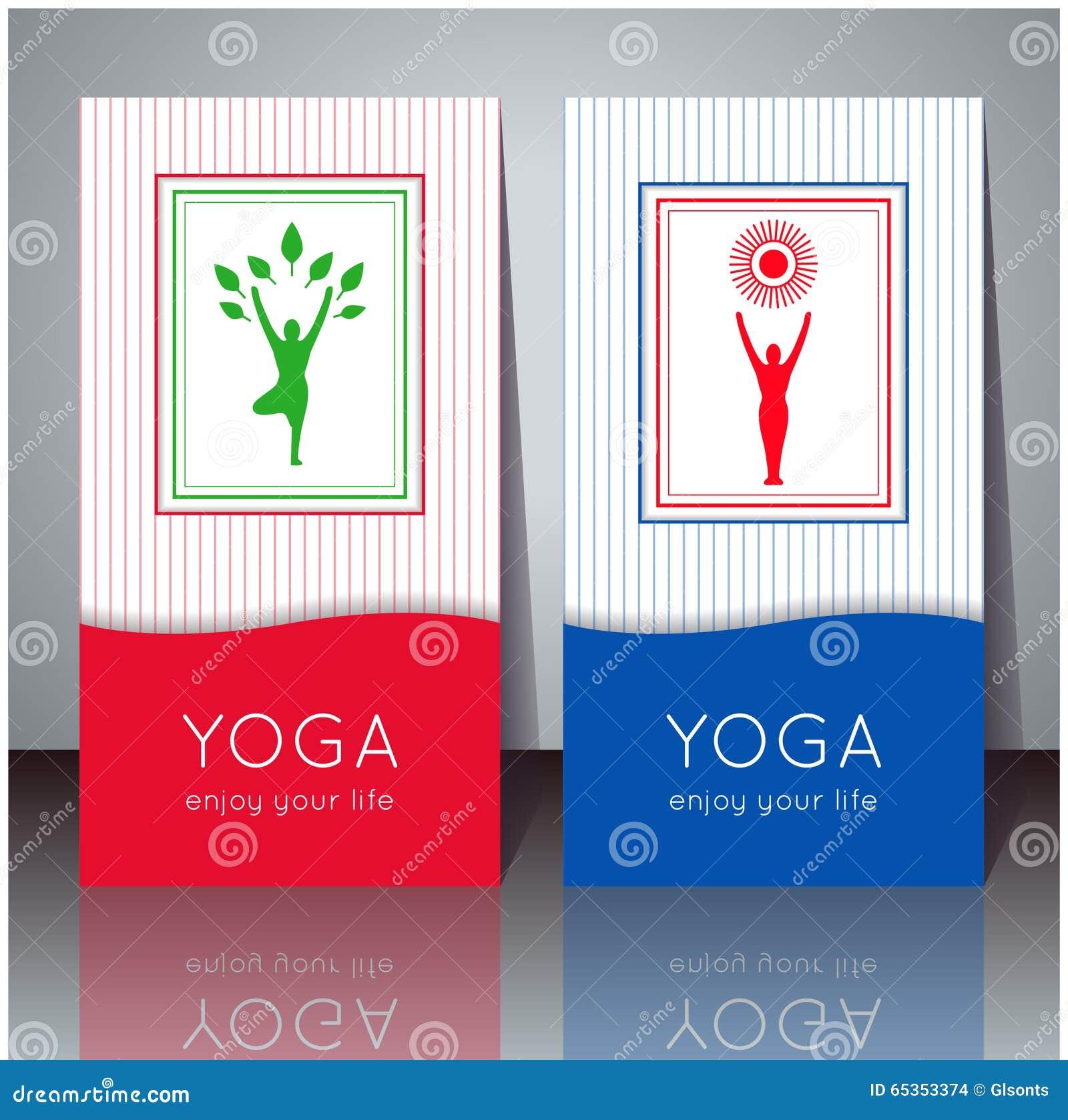 Cartes De Yoga Avec Votre Texte Et Silhouette Yogi
