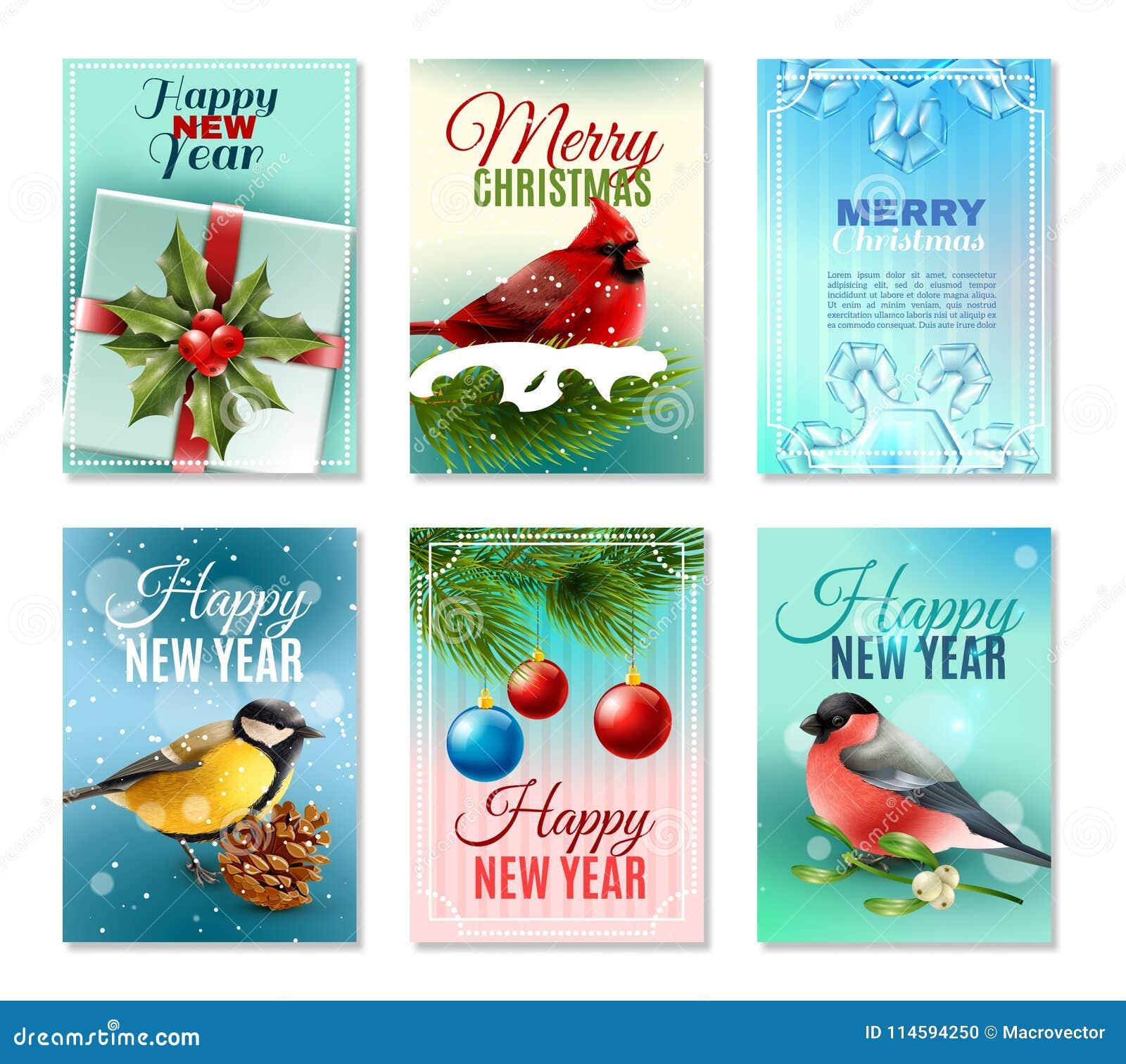 Cartes en liasse d hiver de Noël