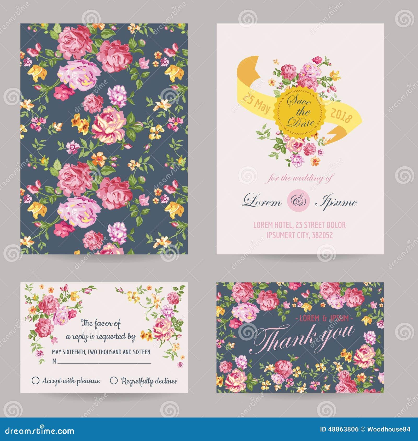 Cartes en liasse d invitation ou de félicitation