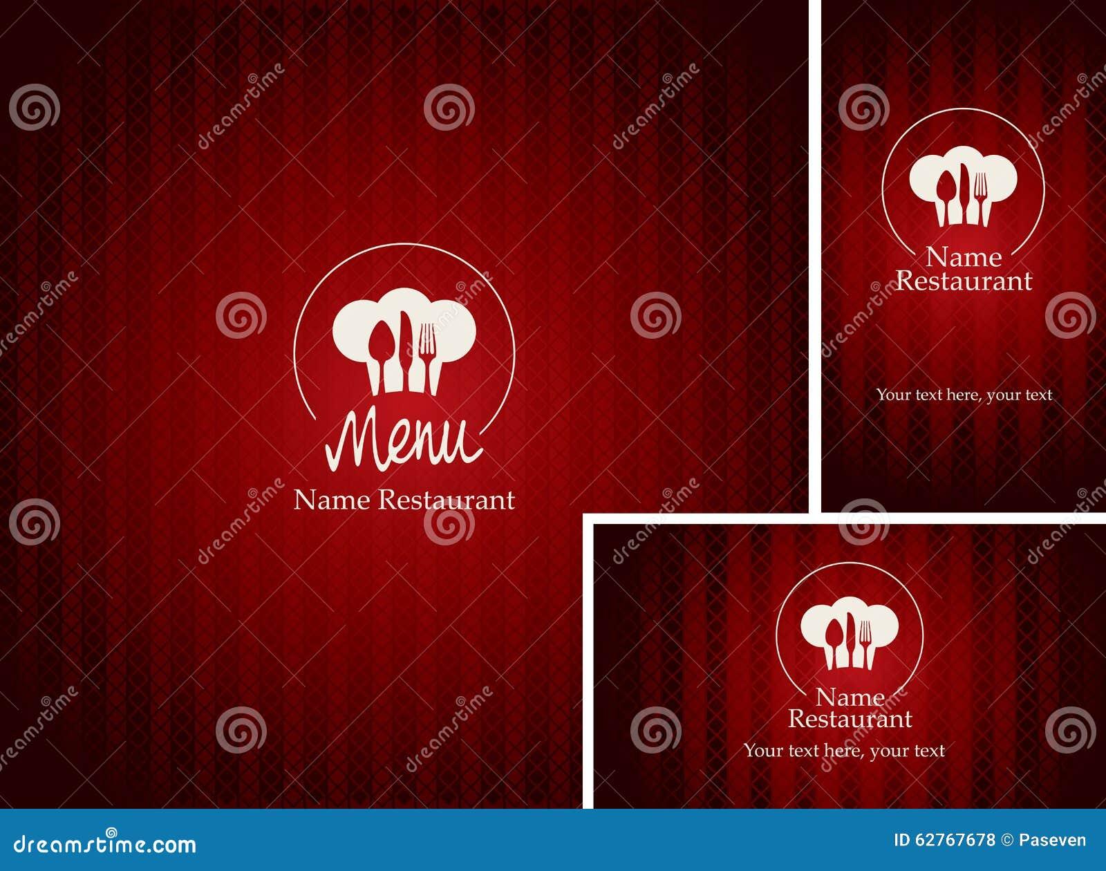 Download Cartes Et De Visite Professionnelle Pour Le Restaurant Illustration Vecteur