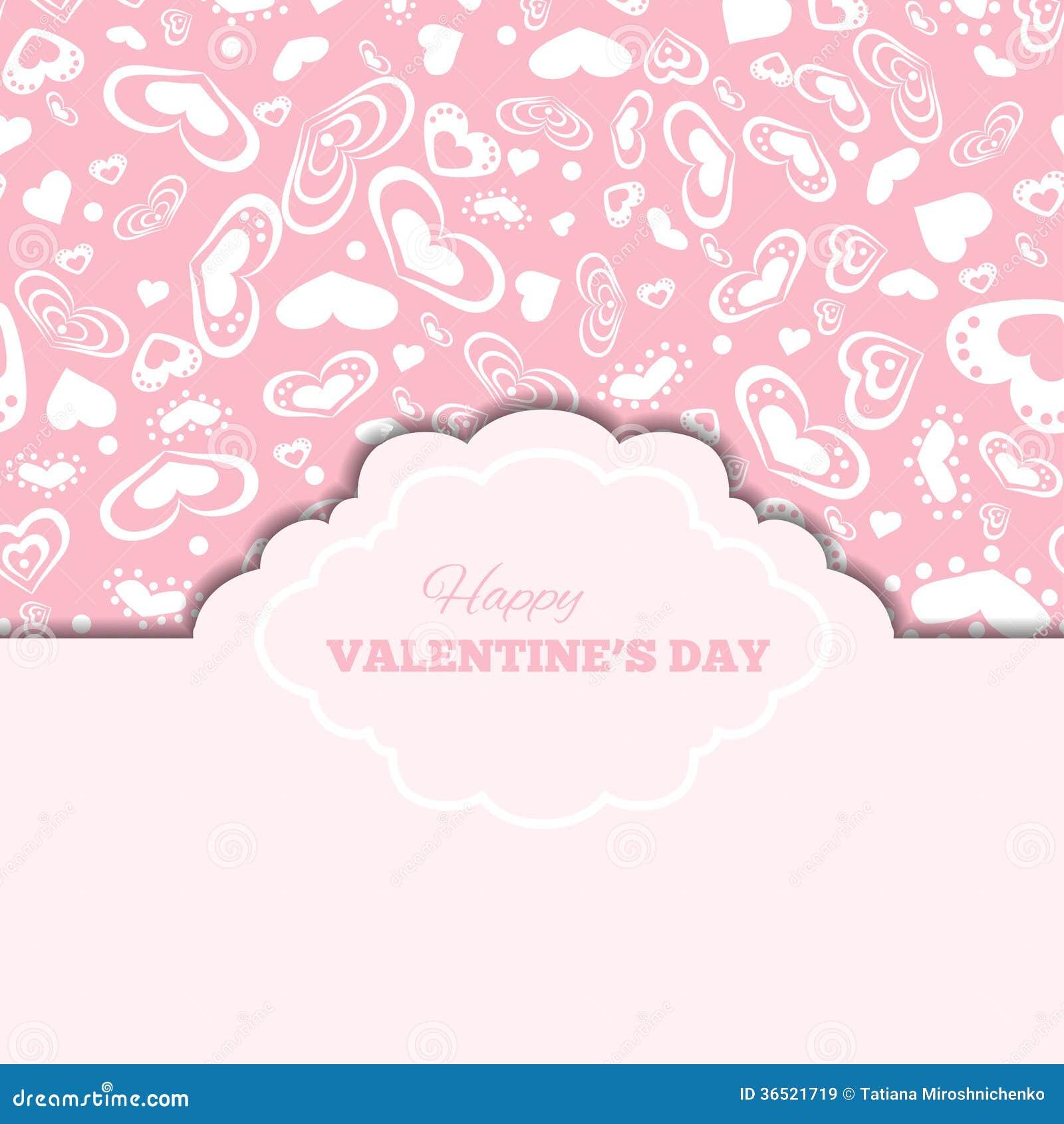 Cartes heureuses de jour de valentines avec les coeurs et le cadre
