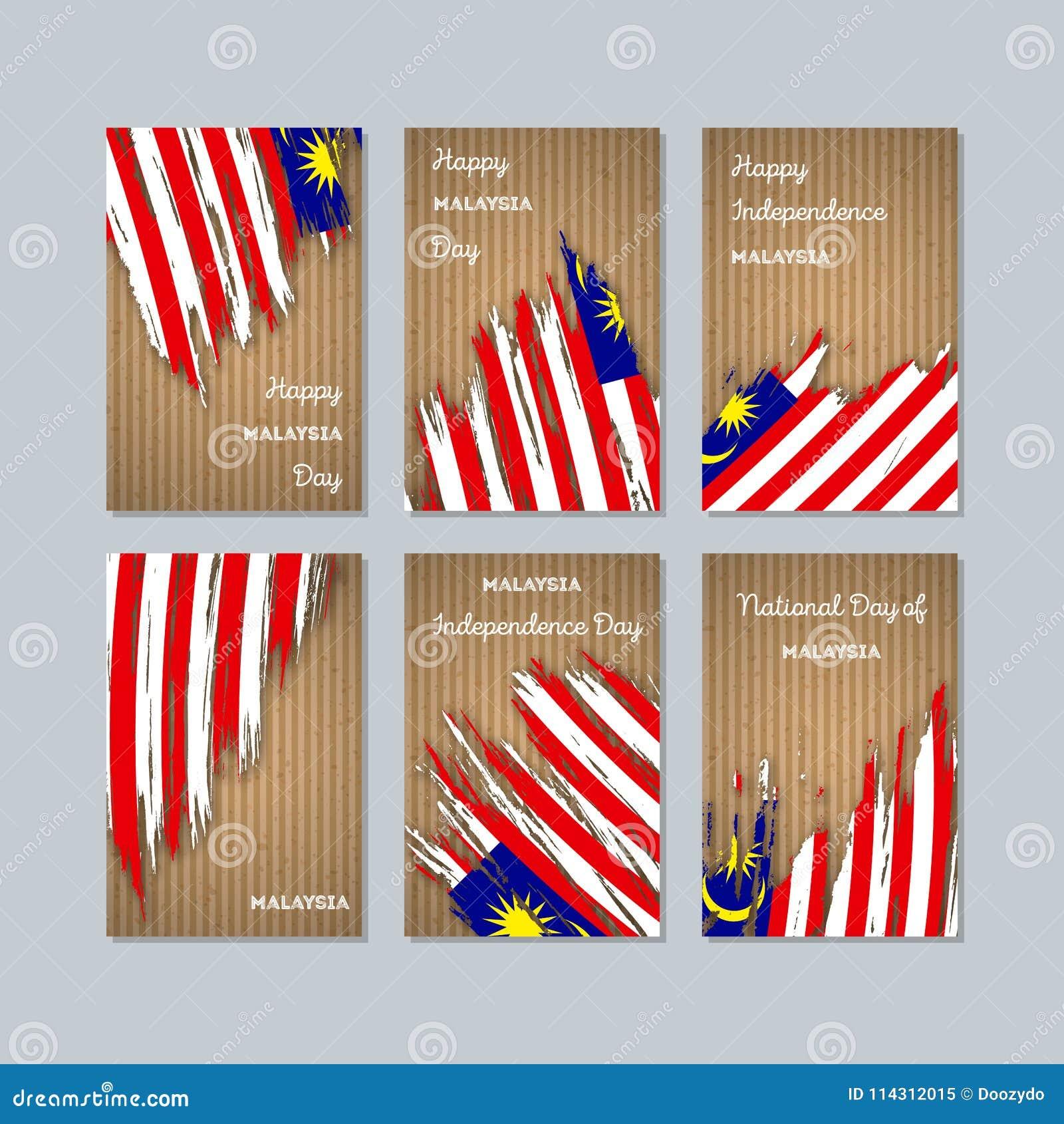 Cartes patriotiques de la Malaisie pour le jour national