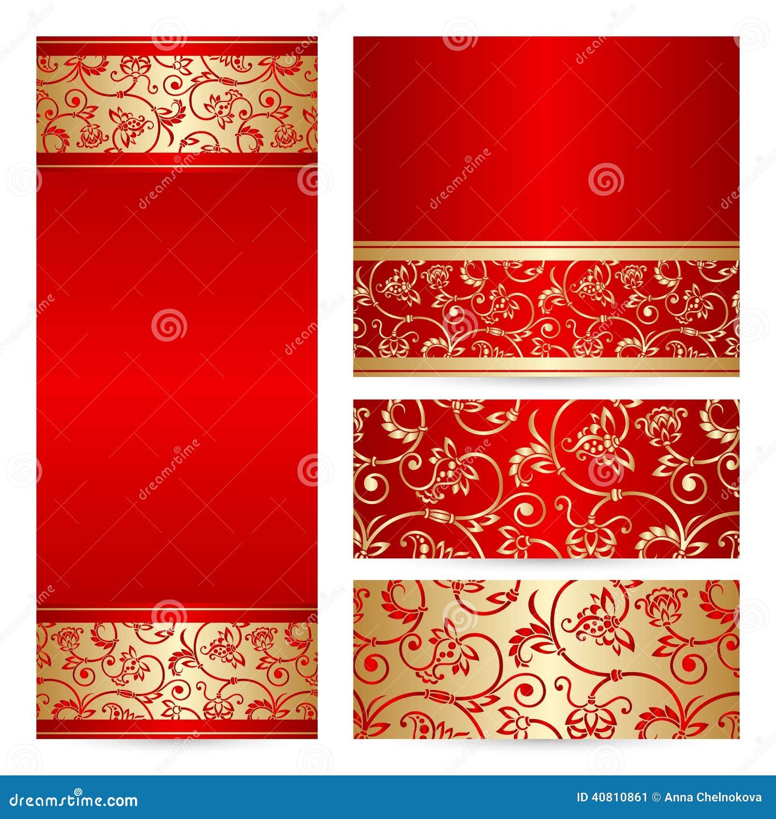 Cartes réglées de salutation ou d invitation de vecteur
