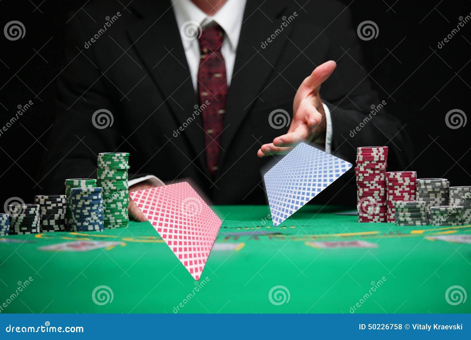 Cartes respectables de portion de travailleur de casino