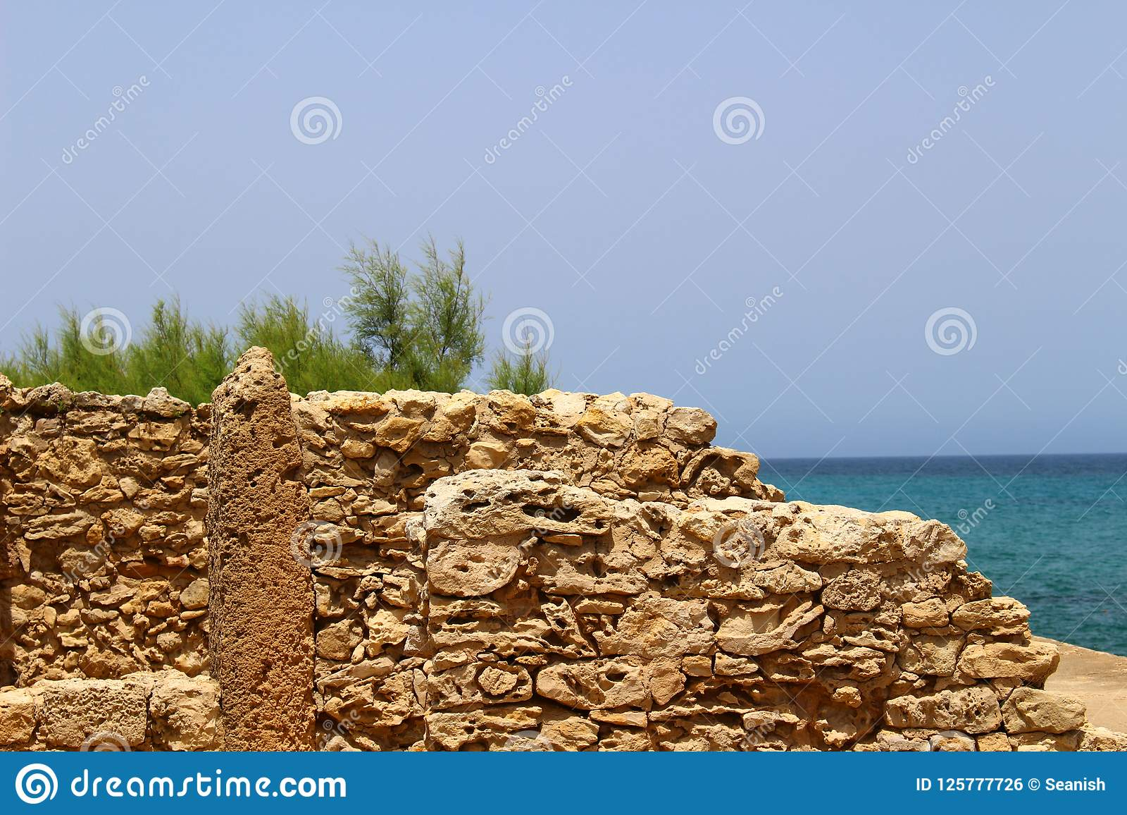 Carthaginian-Ruinen in Kappe Bon, Tunesien