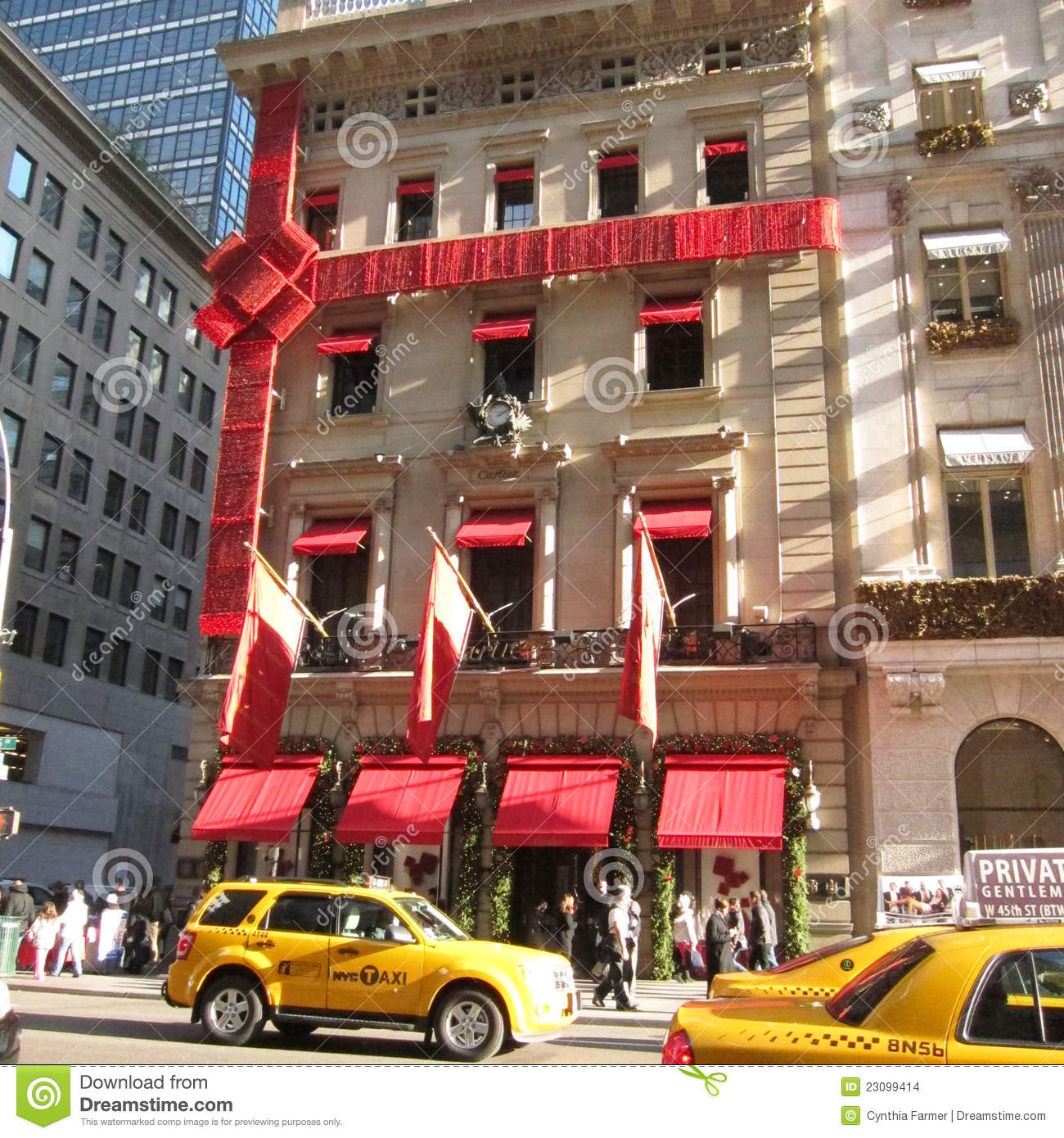 cartier jewelry store in new york city editorial stock