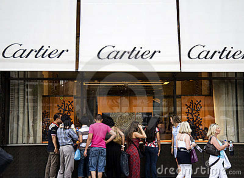 cartier shop in paris editorial stock image image 17520499. Black Bedroom Furniture Sets. Home Design Ideas