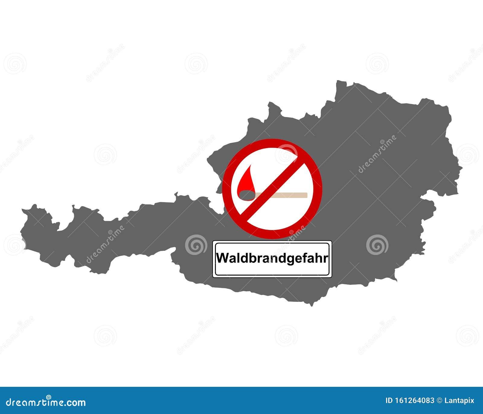 Cartina Austria Stradale.Cartina Dell Austria E Segnaletica Stradale Incendi Boschivi Illustrazione Vettoriale Illustrazione Di Vita Informazione 161264083