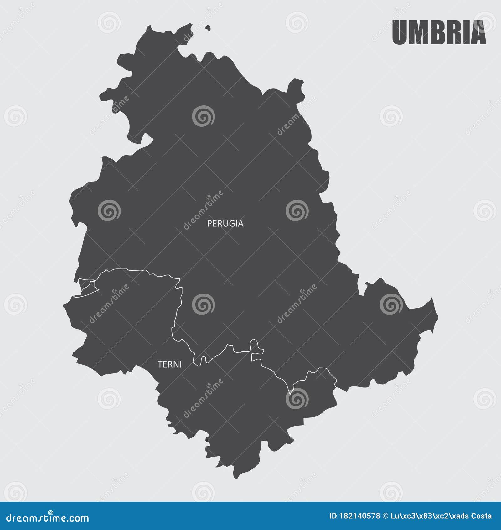 Cartina Geografica Dettagliata Dell Umbria.Cartina Geografica Dell Umbria Illustrazione Di Stock Illustrazione Di Illustrazione Icona 182140578