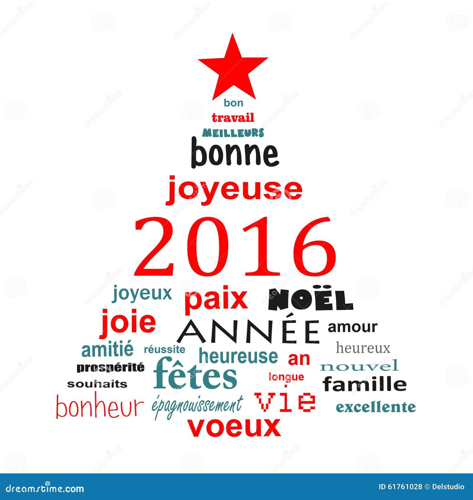 Cartão francês da nuvem da palavra do ano 2016 novo na forma de uma  #C50606 1300 1390