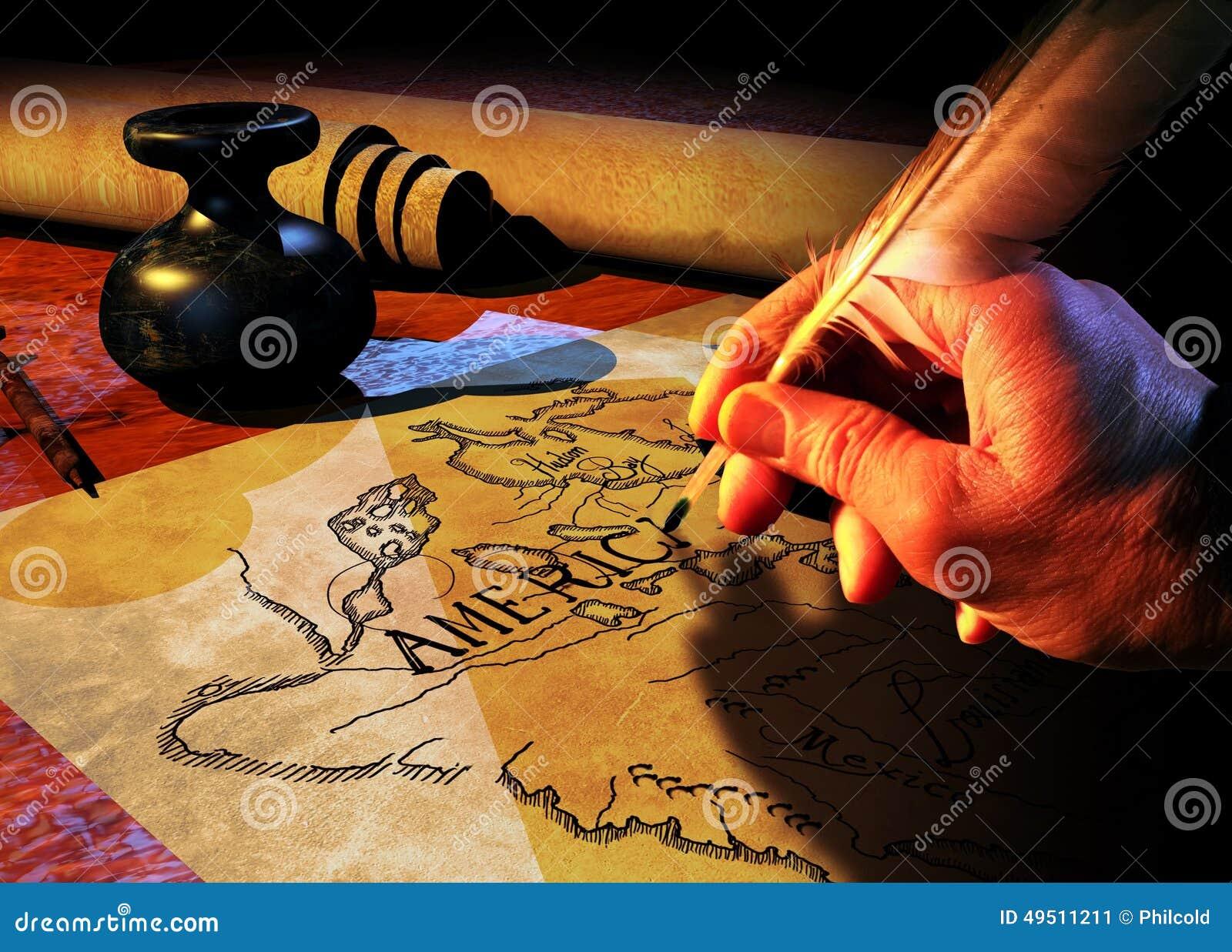 Cartographer Stock Illustration Image 49511211
