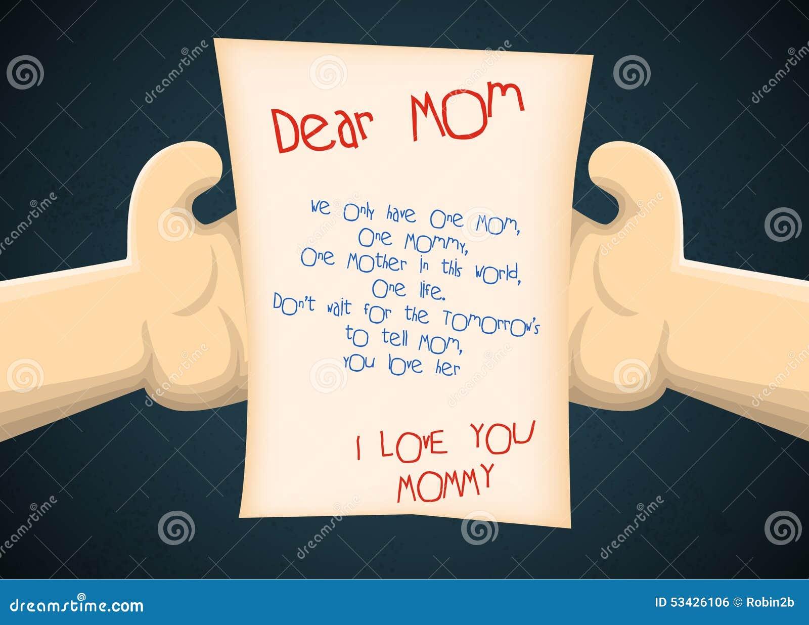 Populaire Cartolina D'auguri Al Figlio Dalla Madre Per La Festa Della Mamma  BE11
