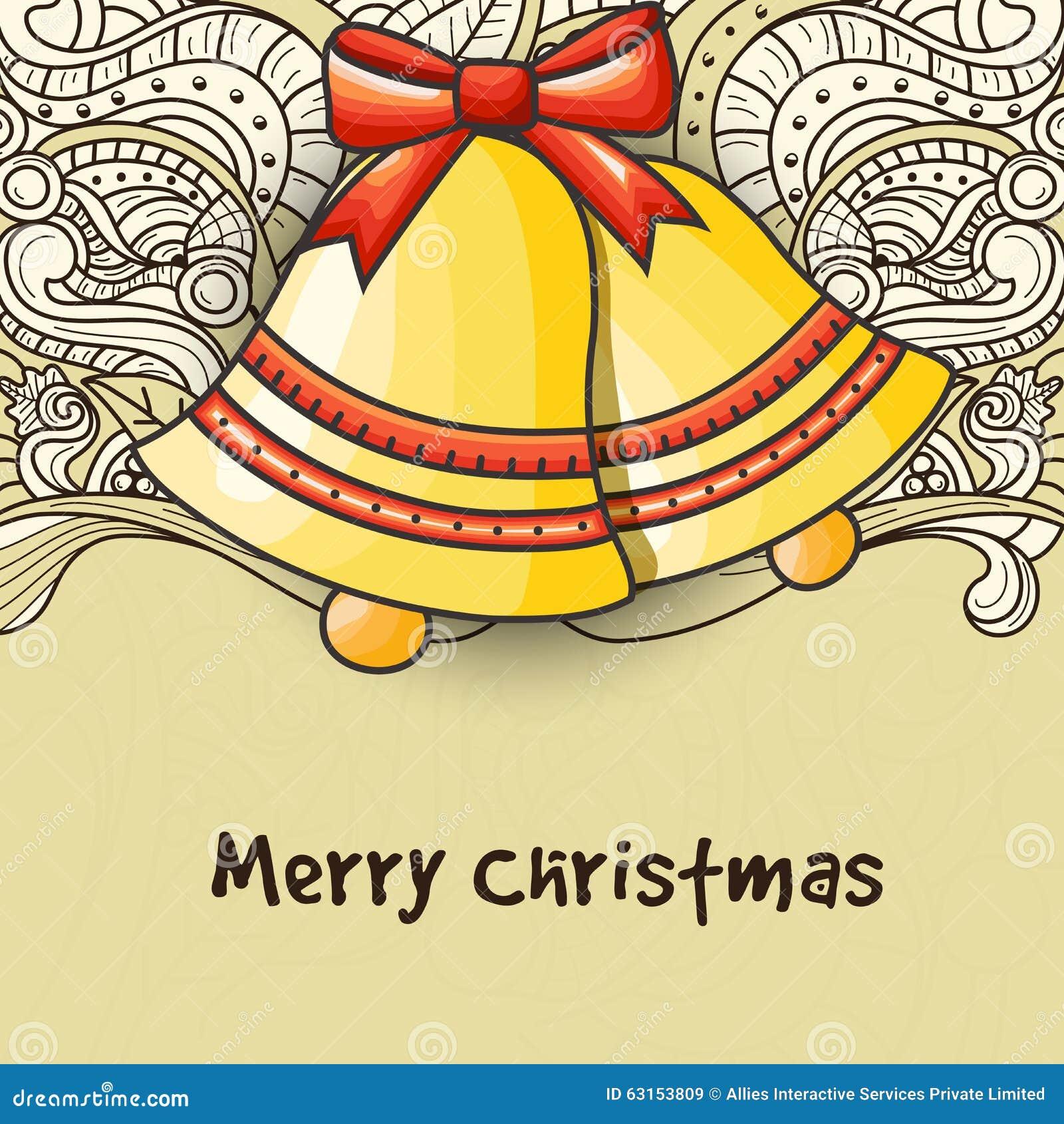 Cartolina Dauguri Con Jingle Bells Per La Celebrazione Di Natale
