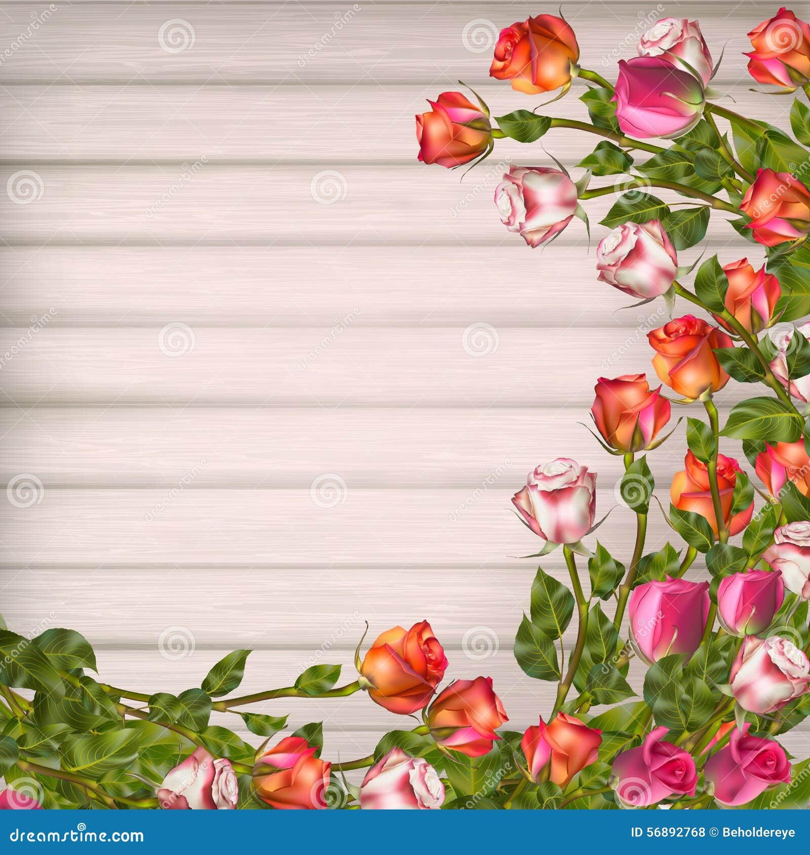 Cartolina d auguri con le rose ENV 10