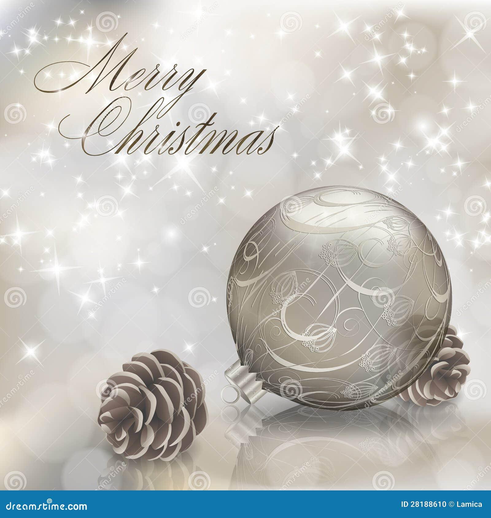 Auguri Di Buon Natale Eleganti.Cartolina D Auguri D Argento Di Buon Natale Illustrazione Vettoriale
