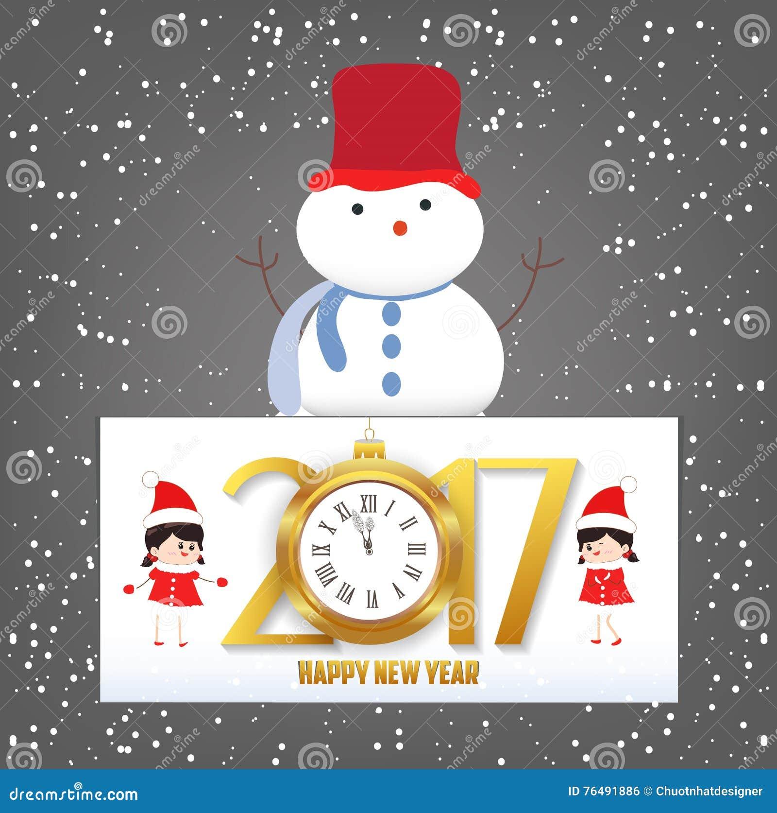 Auguri Matrimonio Orologio : Cartolina d auguri dell orologio del buon anno e di
