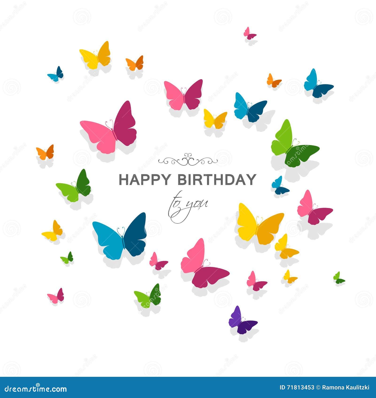 Cartolina D Auguri Di Buon Compleanno Illustrazione Di Stock