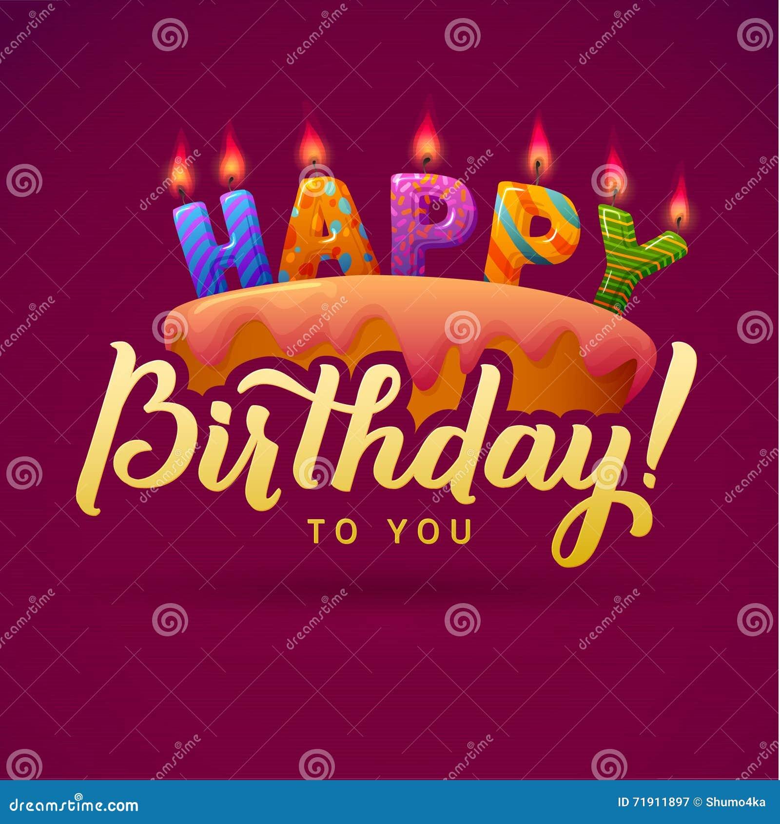 Préférence Cartolina D'auguri Di Buon Compleanno Dolce Con Le Candele  IX32