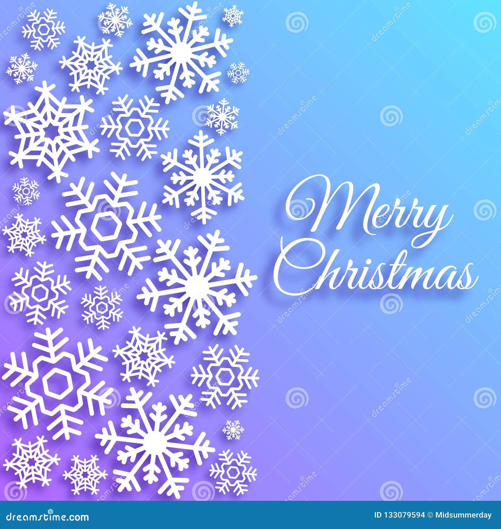 Auguri Di Buon Natale Eleganti.Cartolina D Auguri Di Buon Natale Con I Fiocchi Di Neve Bianchi