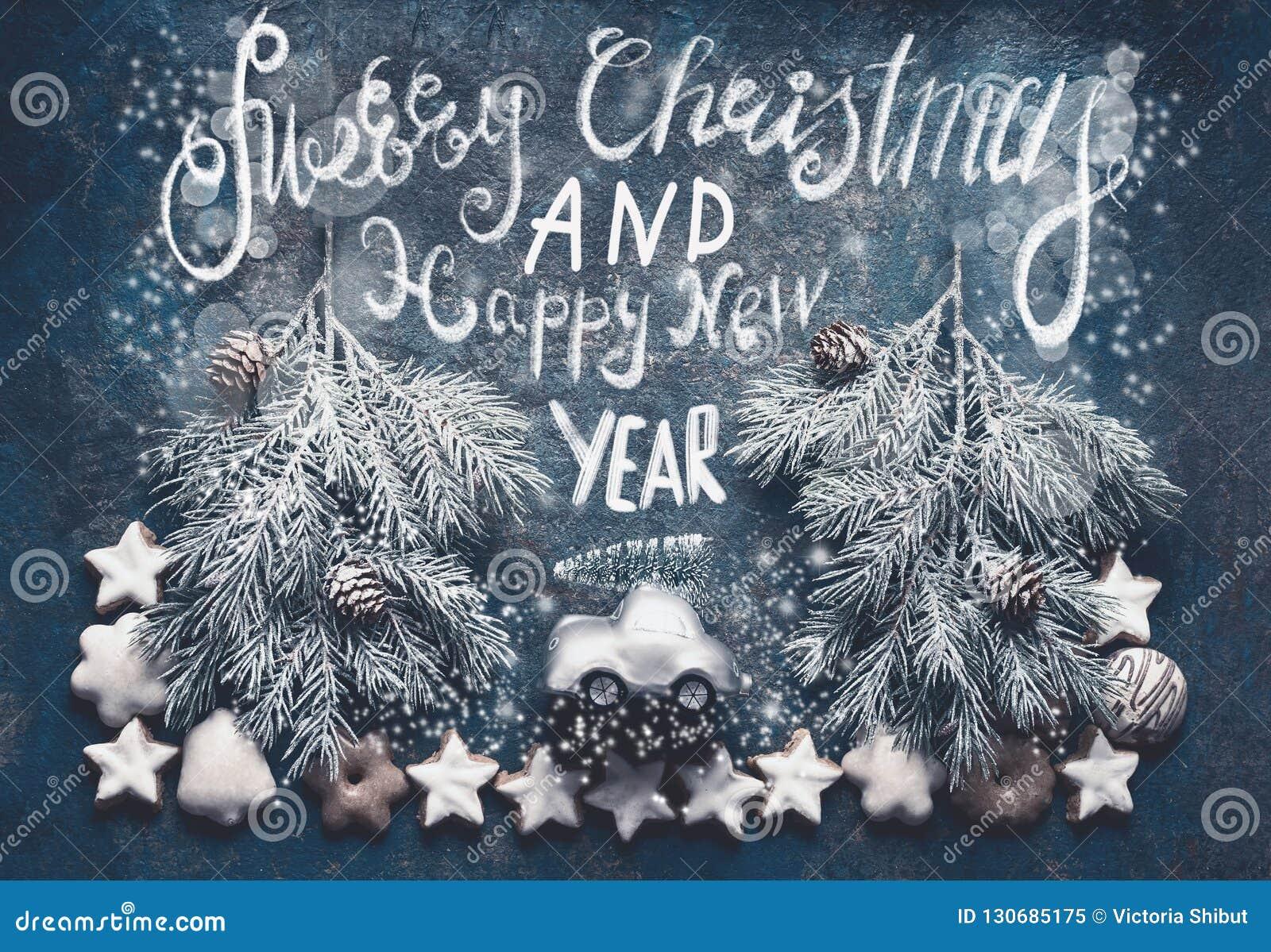 Foto Con Auguri Di Buon Natale.Cartolina D Auguri Di Buon Natale Con L Albero Di Natale