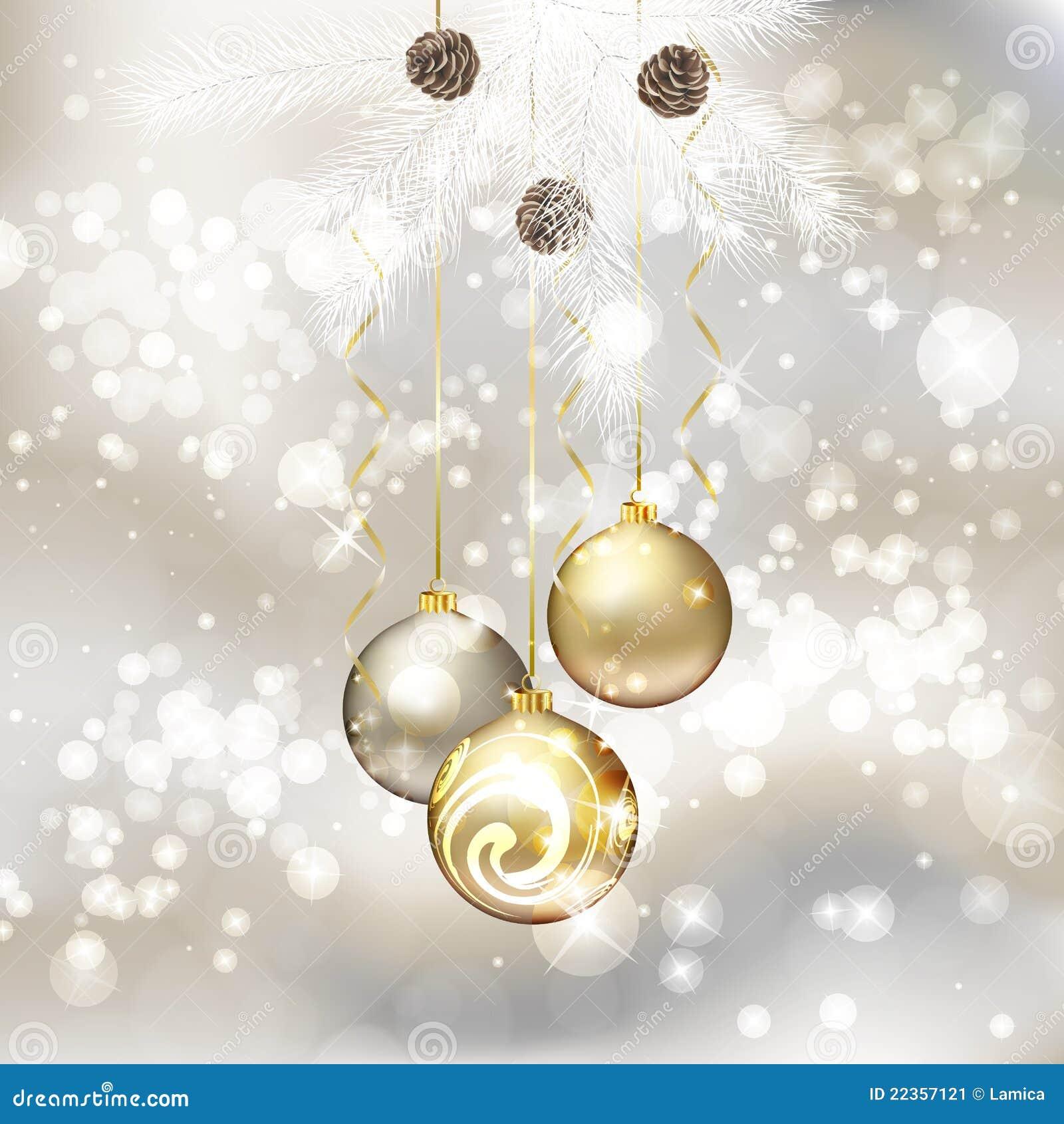 Auguri Di Buon Natale Eleganti.Cartolina D Auguri Di Buon Natale Con Le Sfere Di Natale