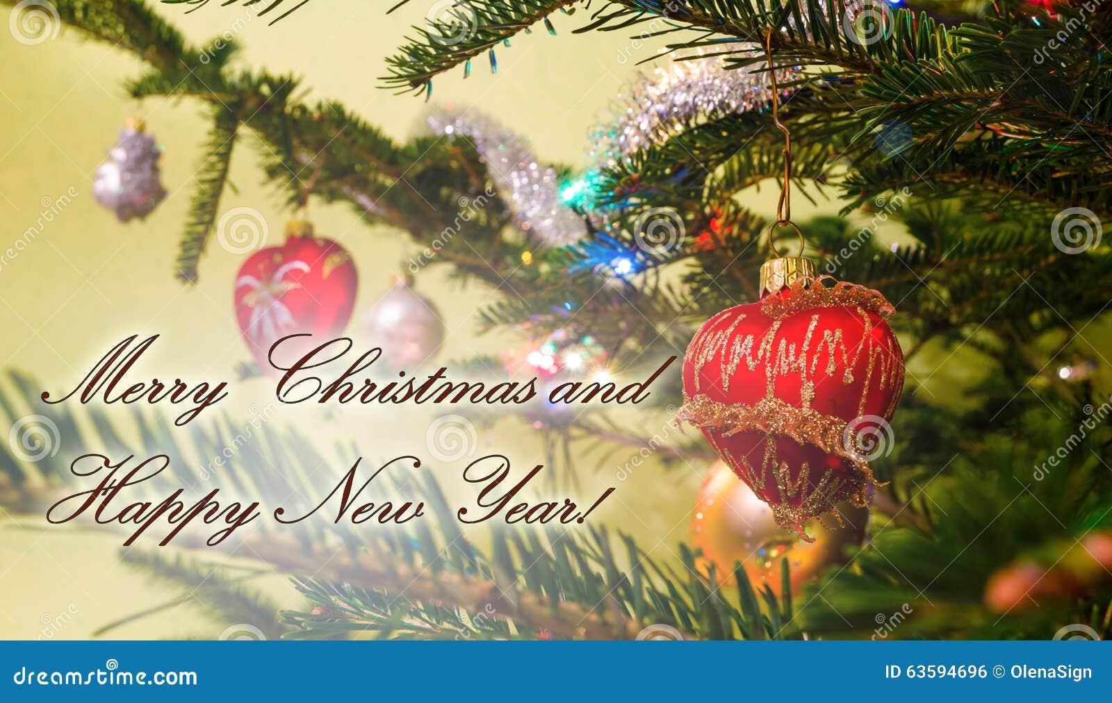 Buon Natale Particolare.Cartolina D Auguri Di Buon Natale Con Le Sfere Di Natale Fotografia