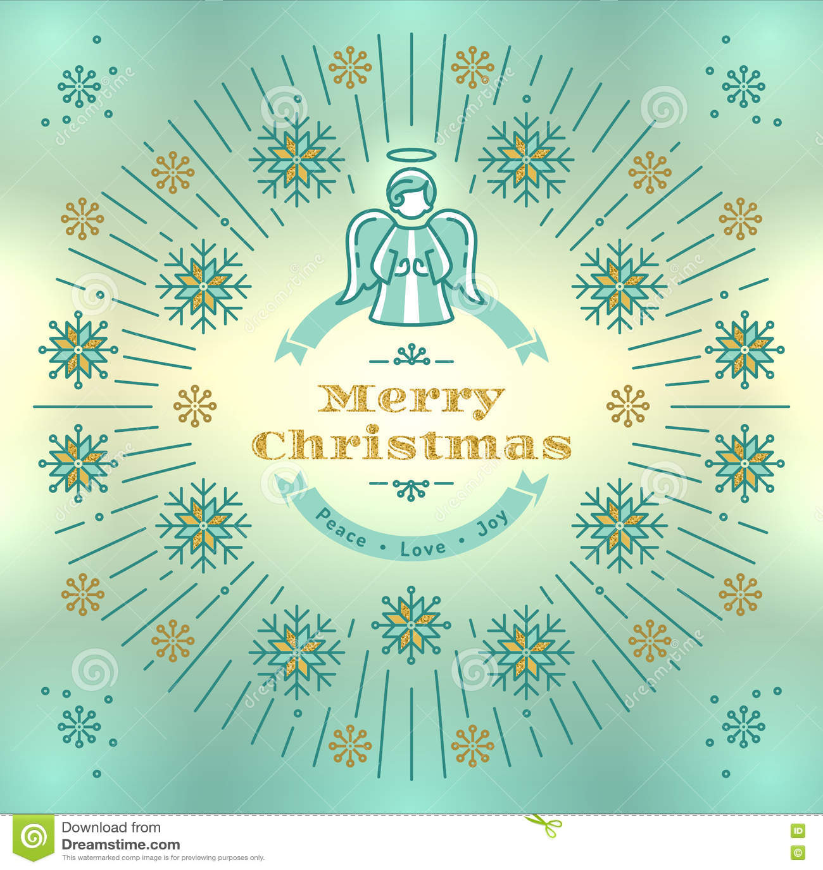 Auguri Di Buon Natale Eleganti.Cartolina D Auguri Di Buon Natale Vettore Di Angelo Fondo Elegante