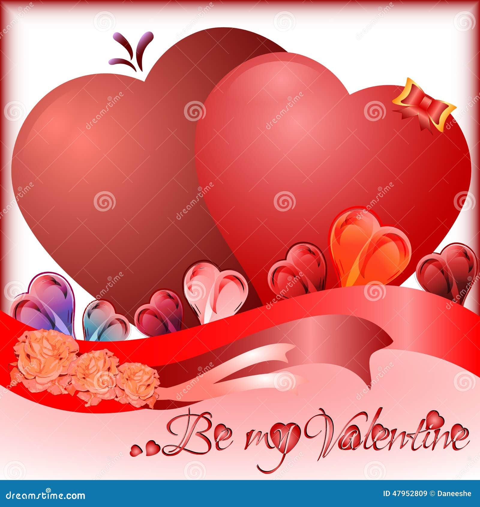 Cartolina d 39 auguri di festa con i cuori sul san valentino - Colore del giorno di san valentino ...