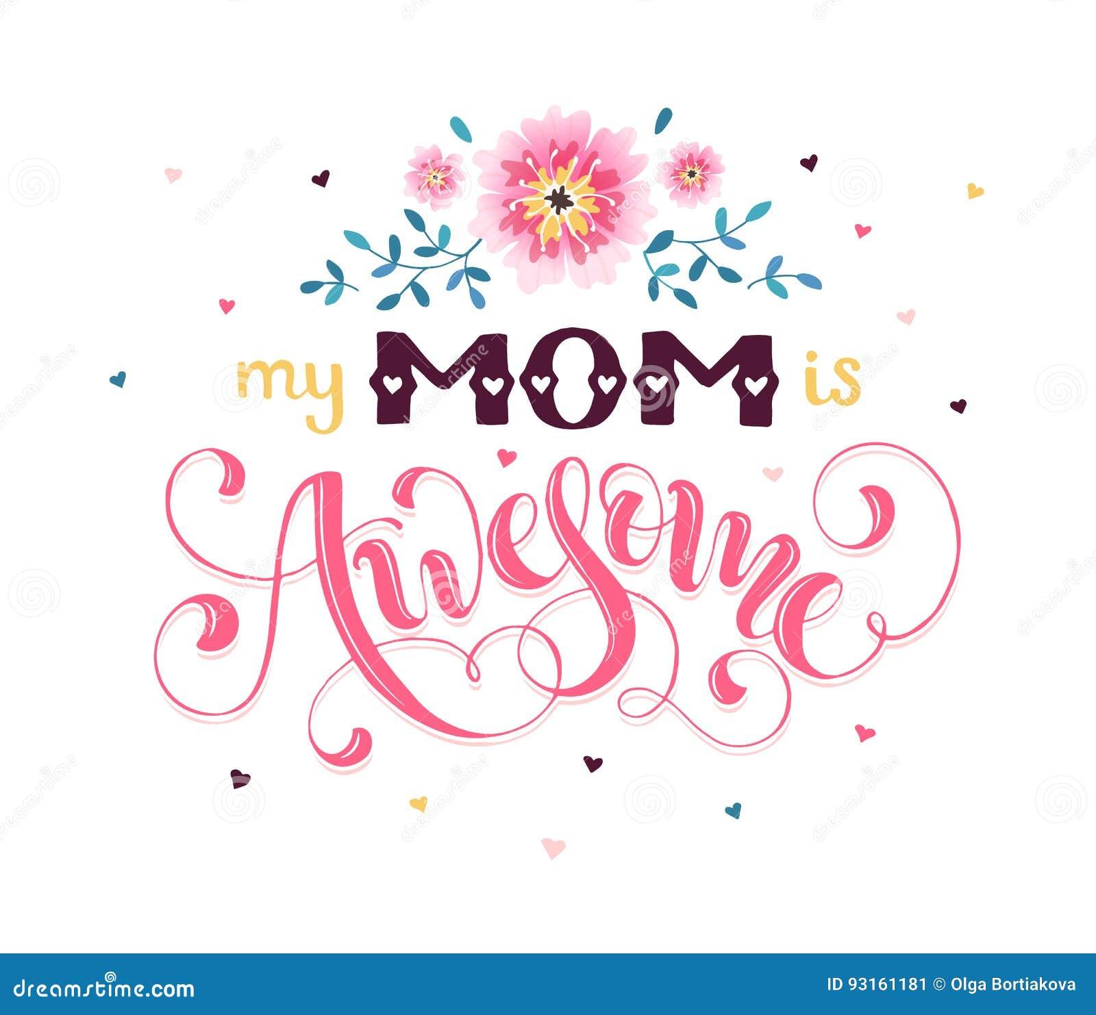 Cartolina d auguri di giorno di madre