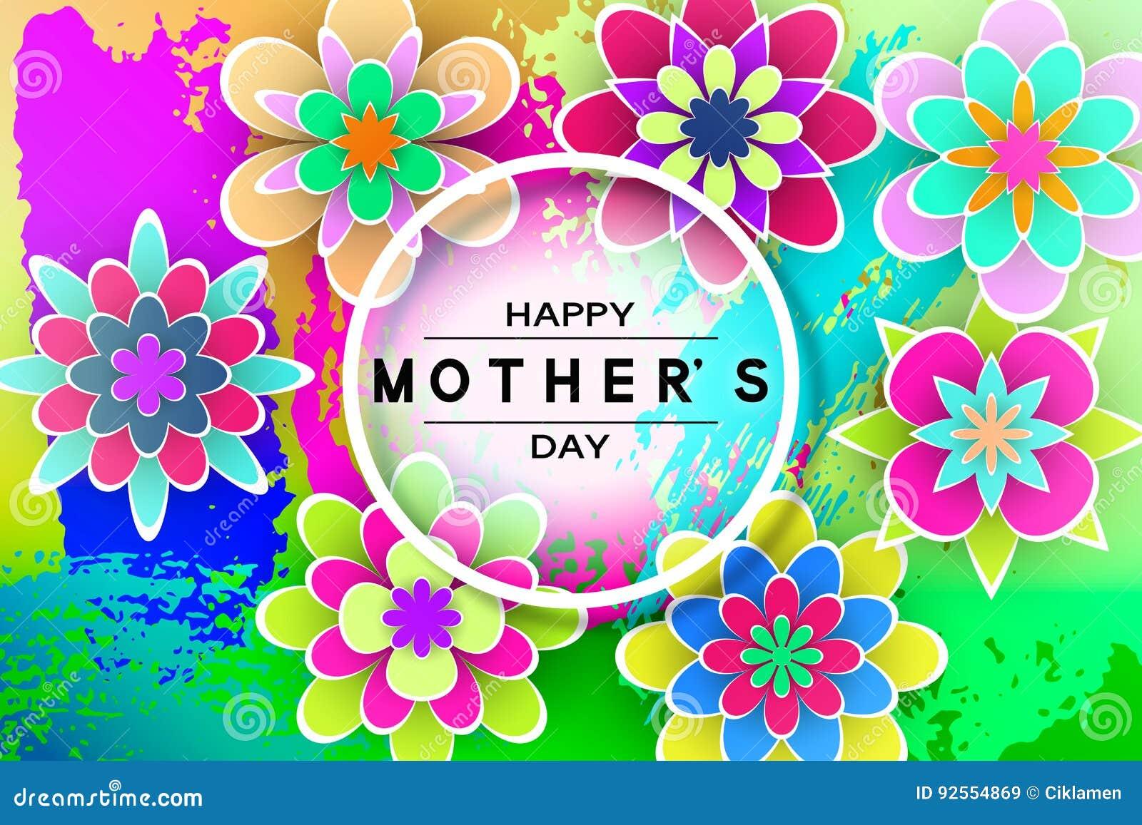 Cartolina d auguri di giorno di Mother's