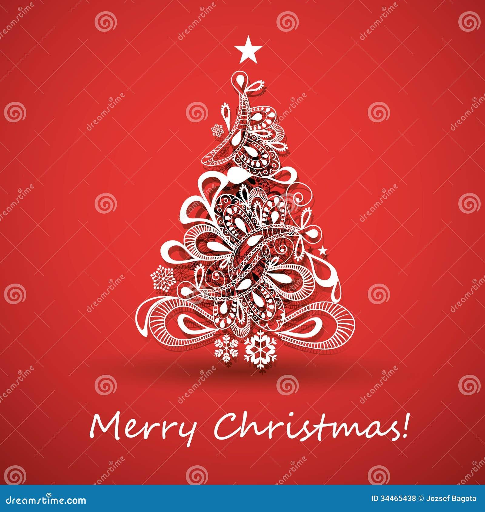 Cartoline Di Auguri Di Natale.Cartolina D Auguri Di Natale Illustrazione Vettoriale