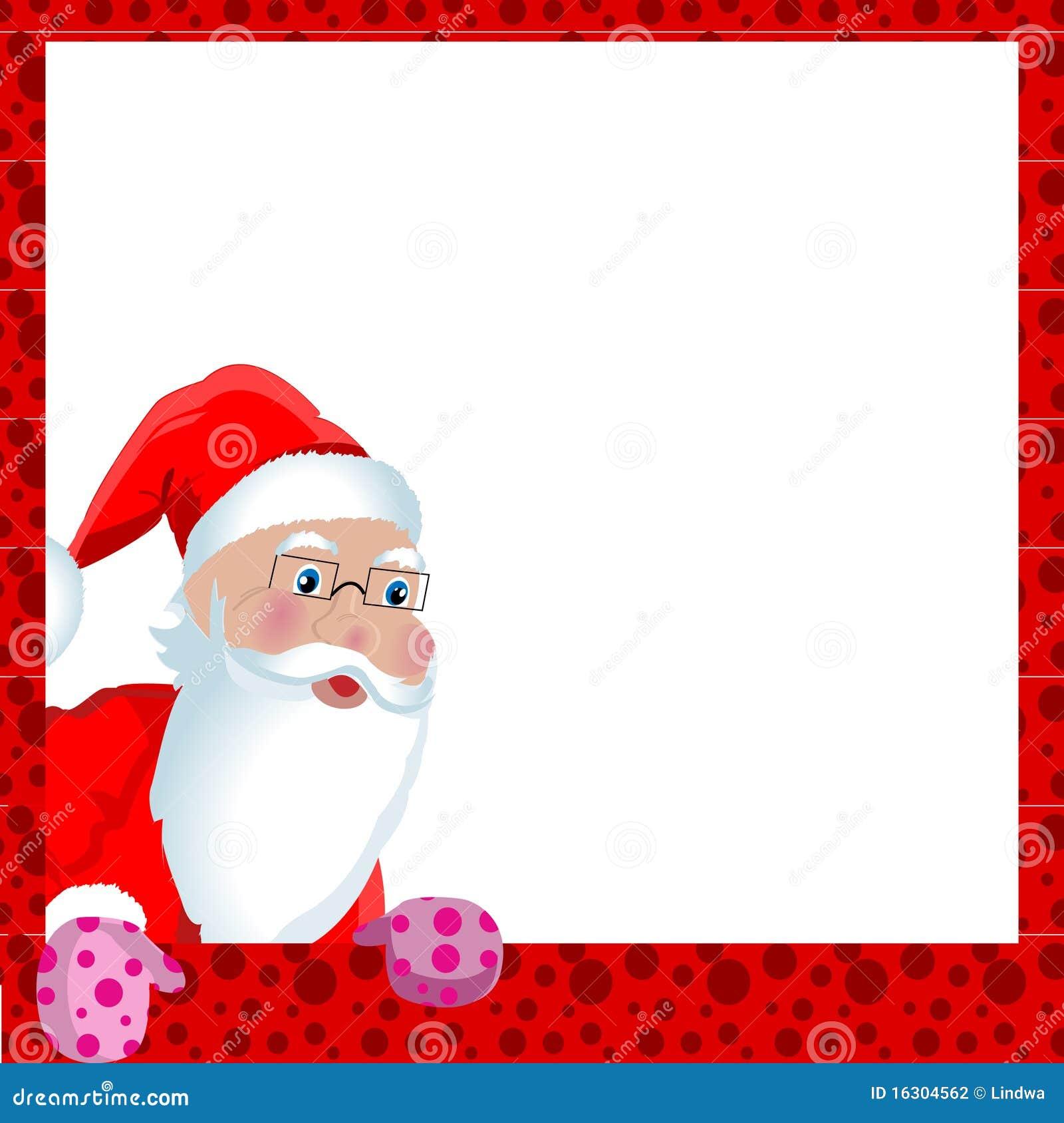 Cartolina d 39 auguri di natale con il babbo natale for Cartoline di auguri per natale