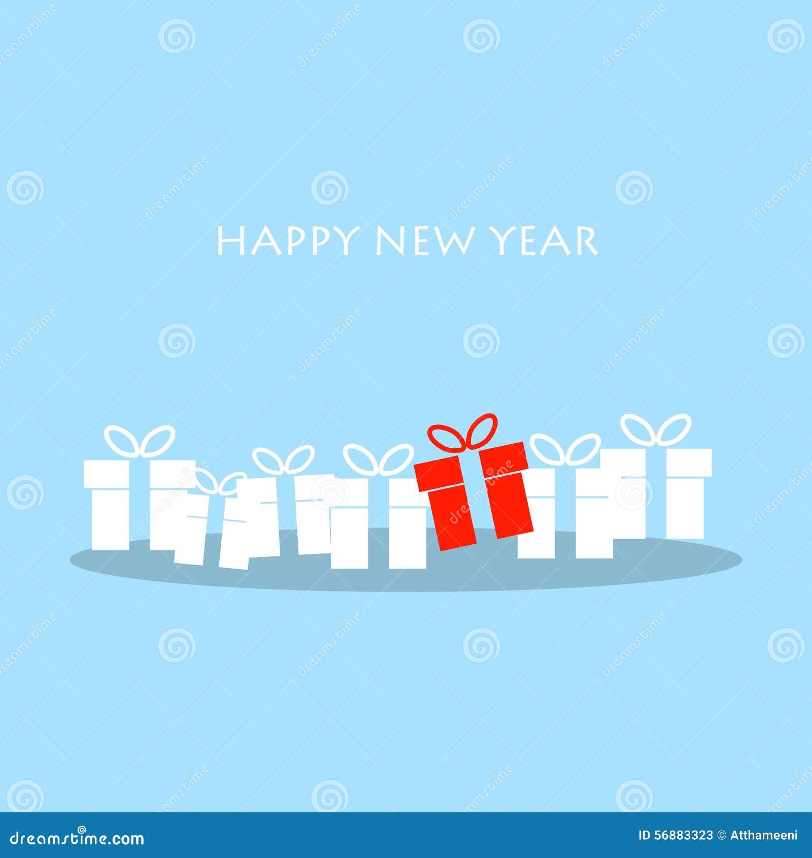 Cartolina d auguri di Natale e del buon anno