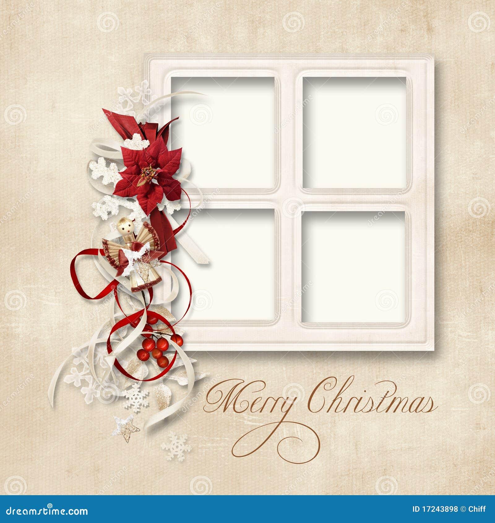 Auguri Di Natale Per La Famiglia.Cartolina D Auguri Di Natale Per Una Famiglia Illustrazione Di Stock