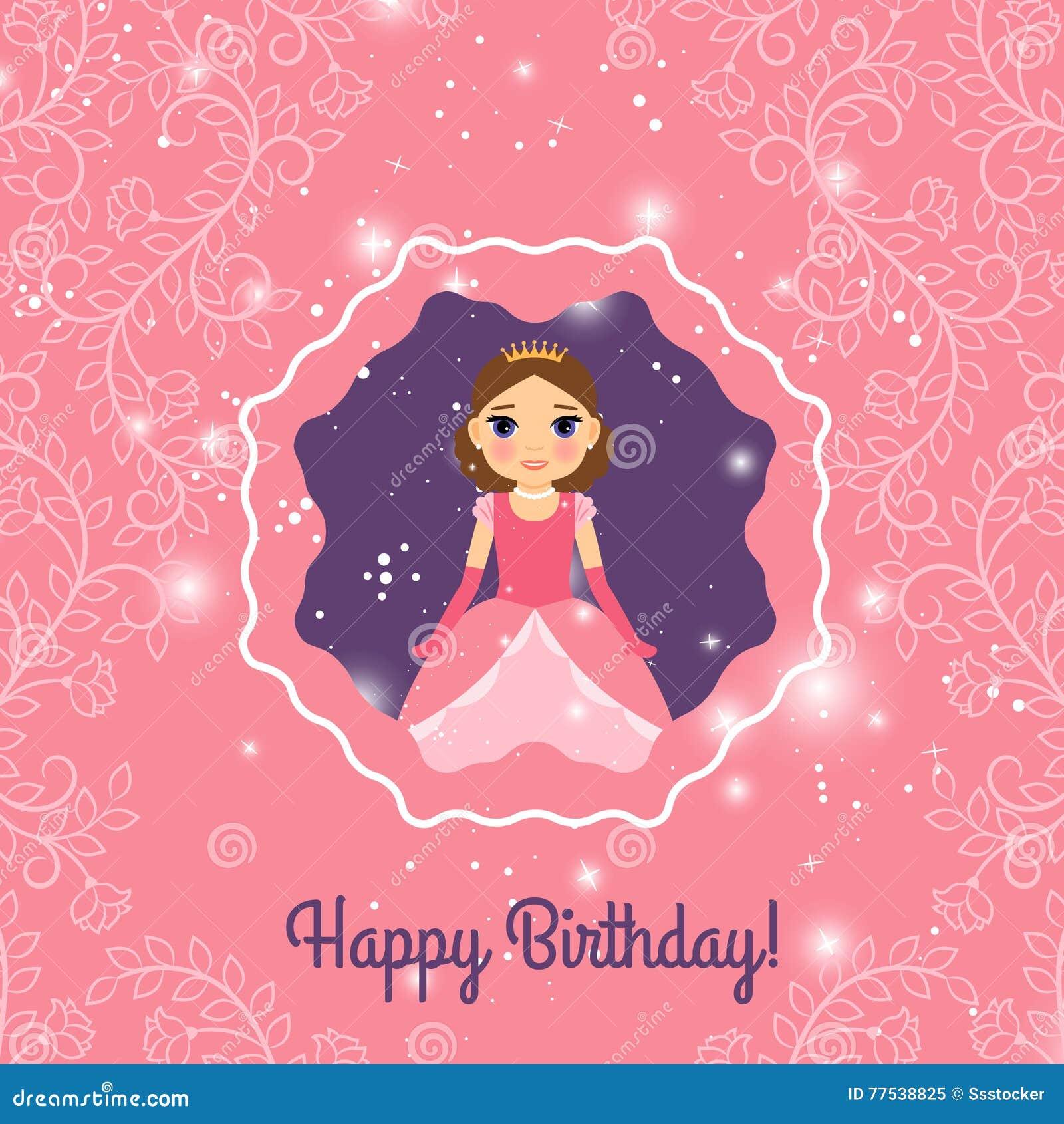 Estremamente Buon Compleanno, Principessa, Cartolina D'auguri Illustrazione  JR53
