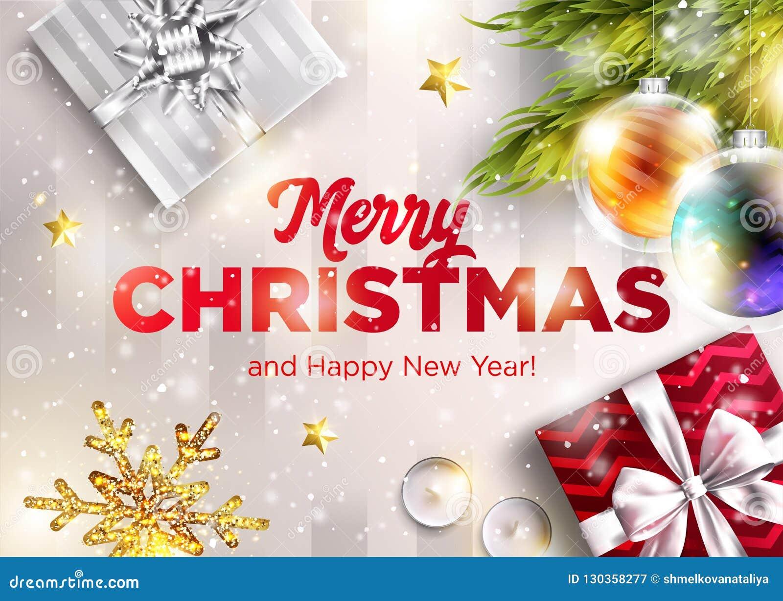 Immagini Auguri Natale 2019.Cartolina D Auguri Di Vettore Di Buon Natale Buon Anno 2019