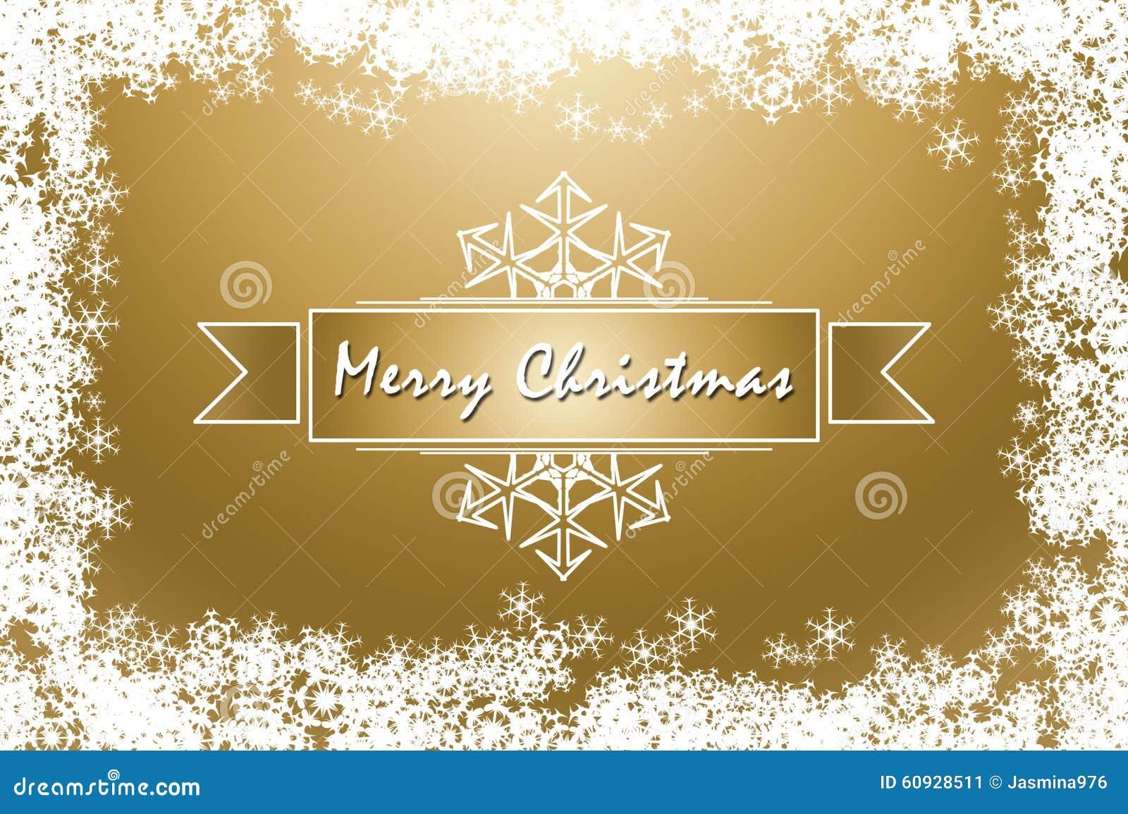 Auguri Di Buon Natale Eleganti.Cartolina D Auguri Dorata Elegante Di Buon Natale Illustrazione Di