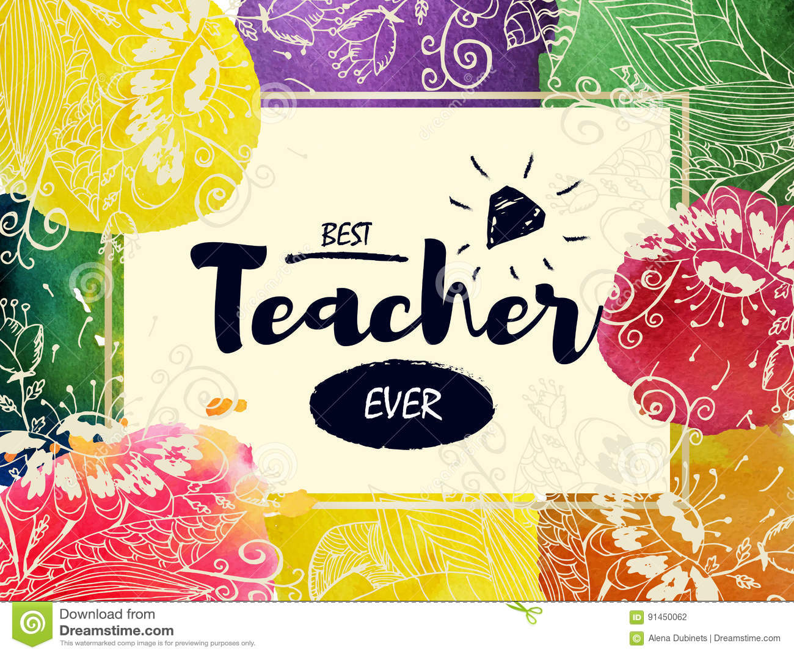 Cartolina d auguri felice di giorno del ` s dell insegnante Pagina con le congratulazioni al giorno degli insegnanti Il migliore