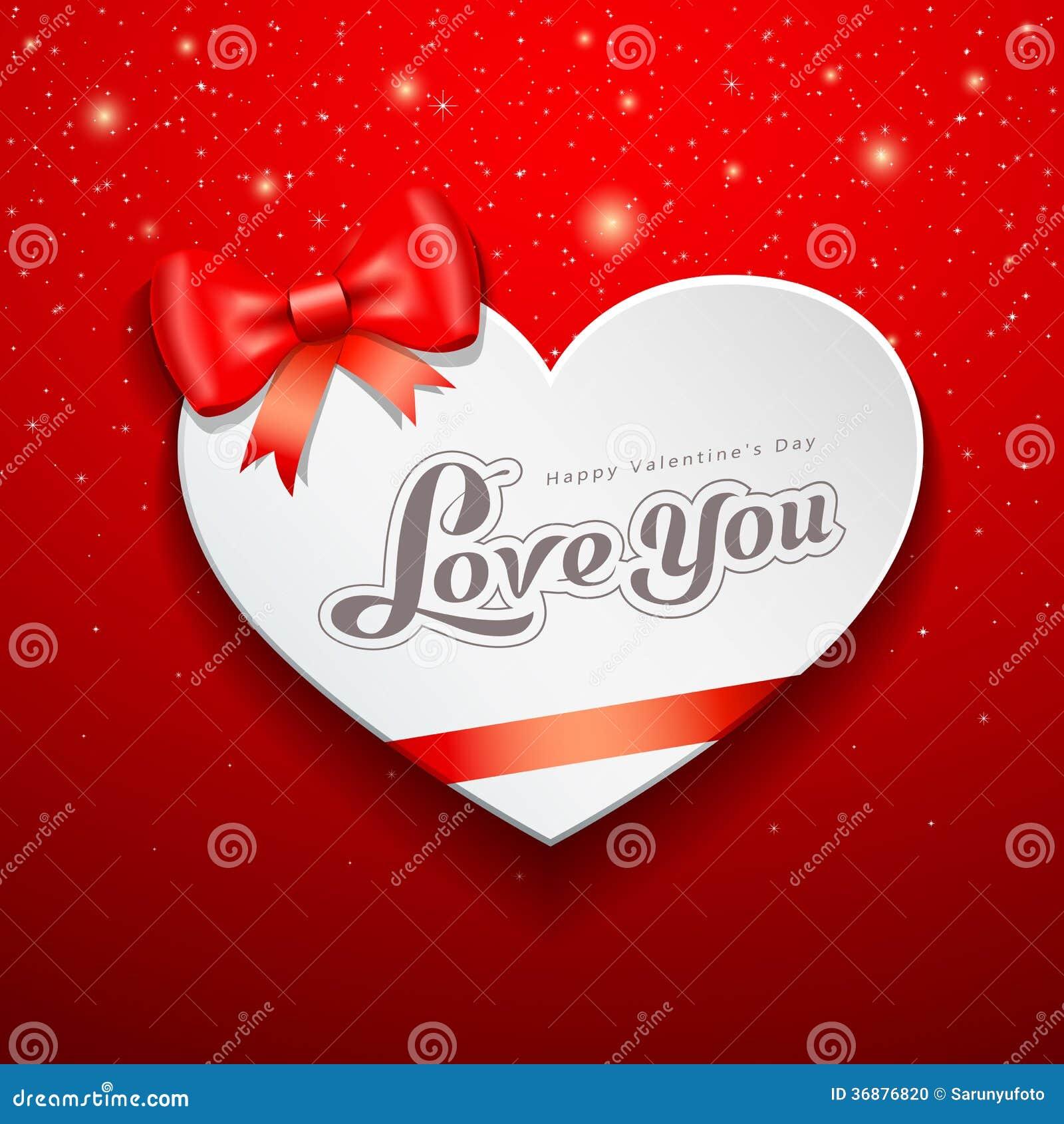 Download Cartolina D'auguri Felice Di Giorno Di Biglietti Di S. Valentino E Nastro Rosso Illustrazione Vettoriale - Illustrazione di celebrazione, immagine: 36876820