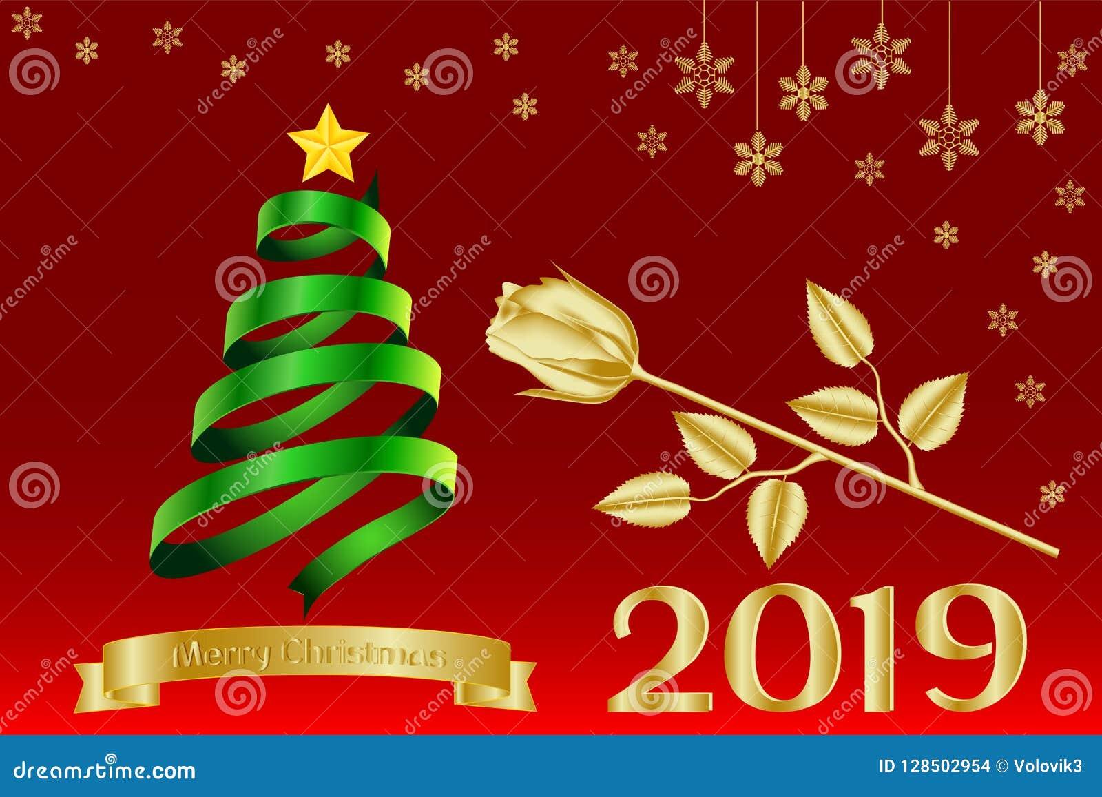 Cartolina D Auguri Insegna Calendario Con Il Buon Natale