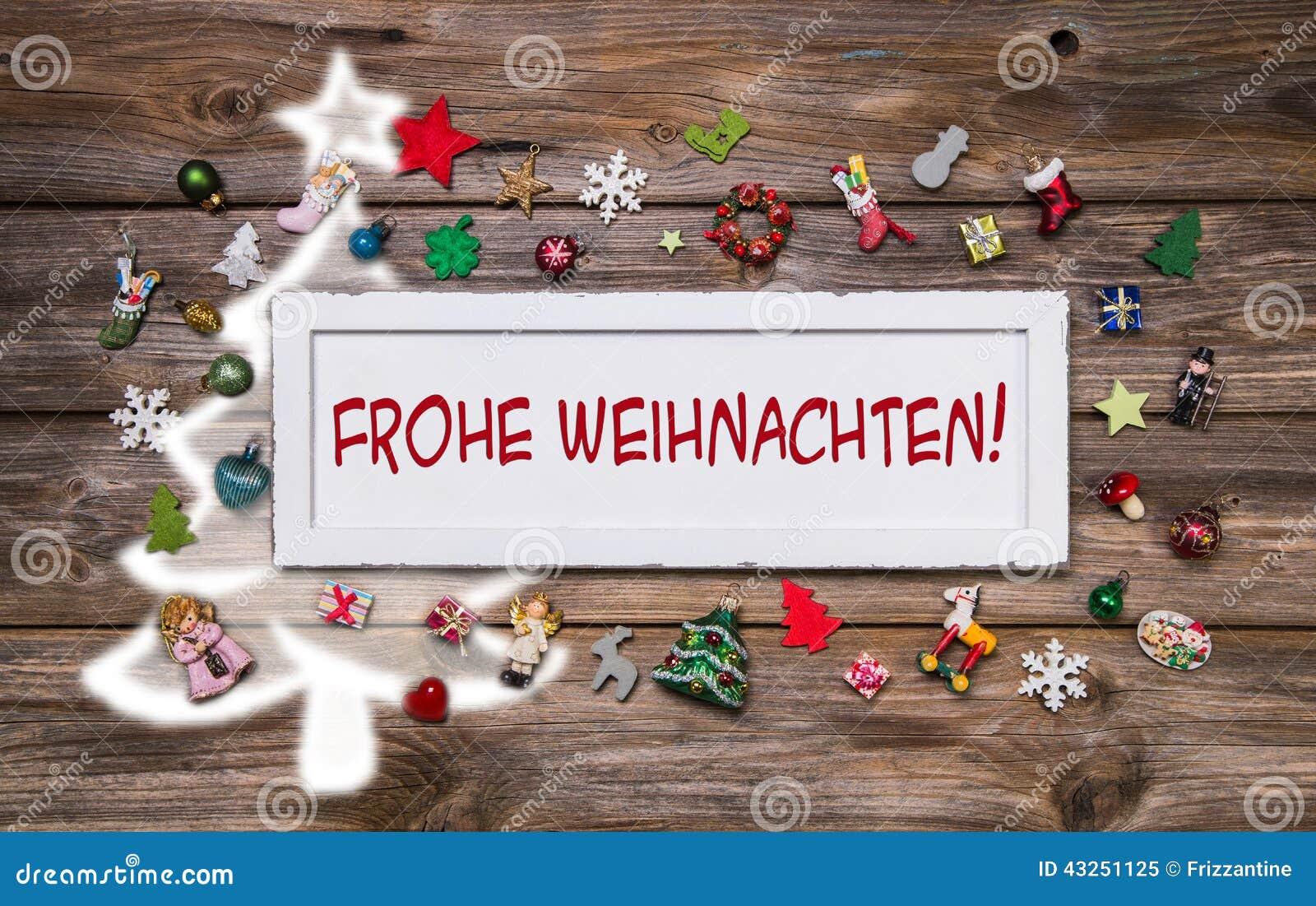 Auguri Buon Natale In Tedesco.Cartolina D Auguri Per Natale Con Testo Tedesco Per Il Buon Natale Immagine Stock Immagine Di Saluto Brown 43251125