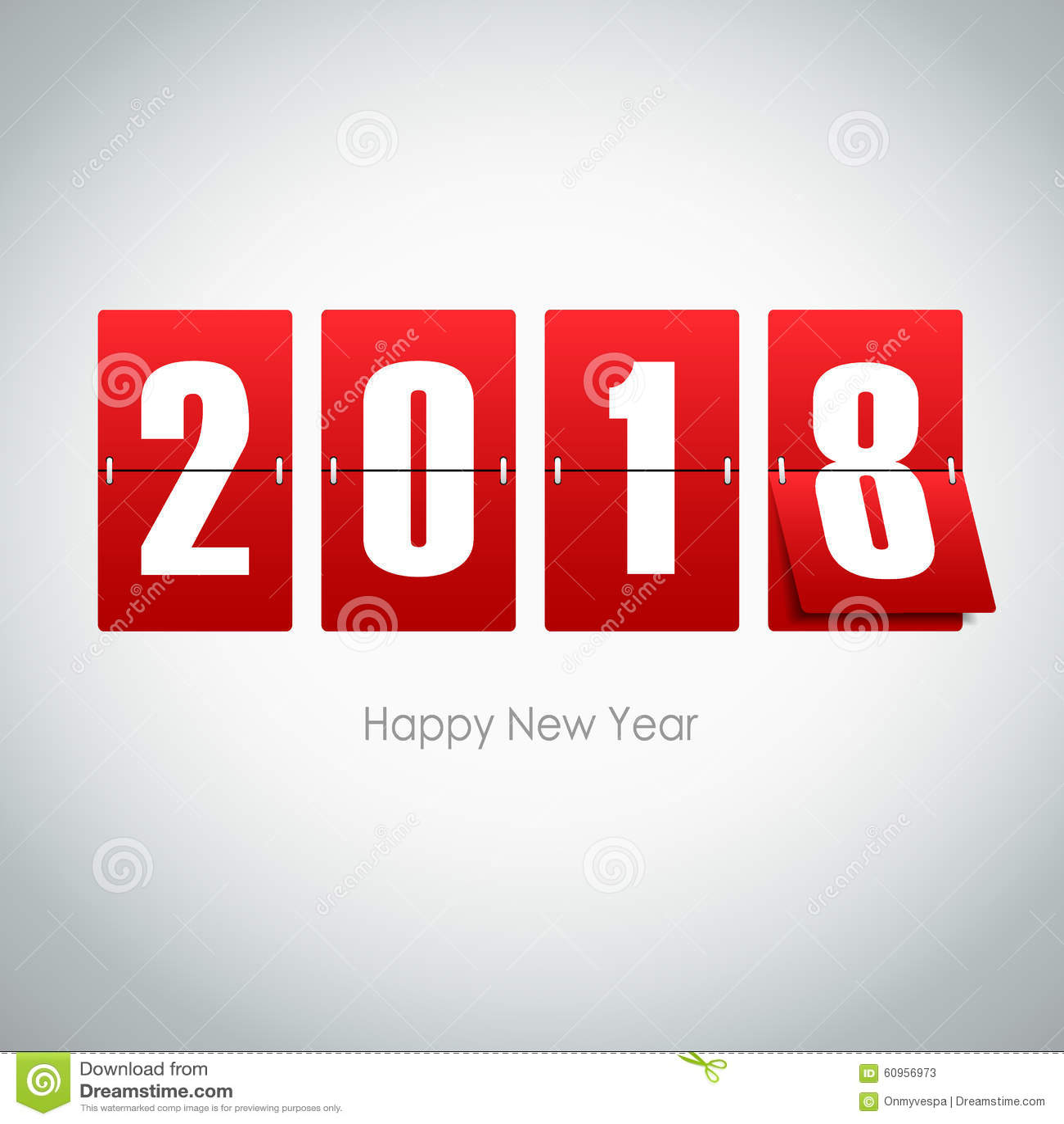 Cartolina d auguri 2018 su fondo grigio