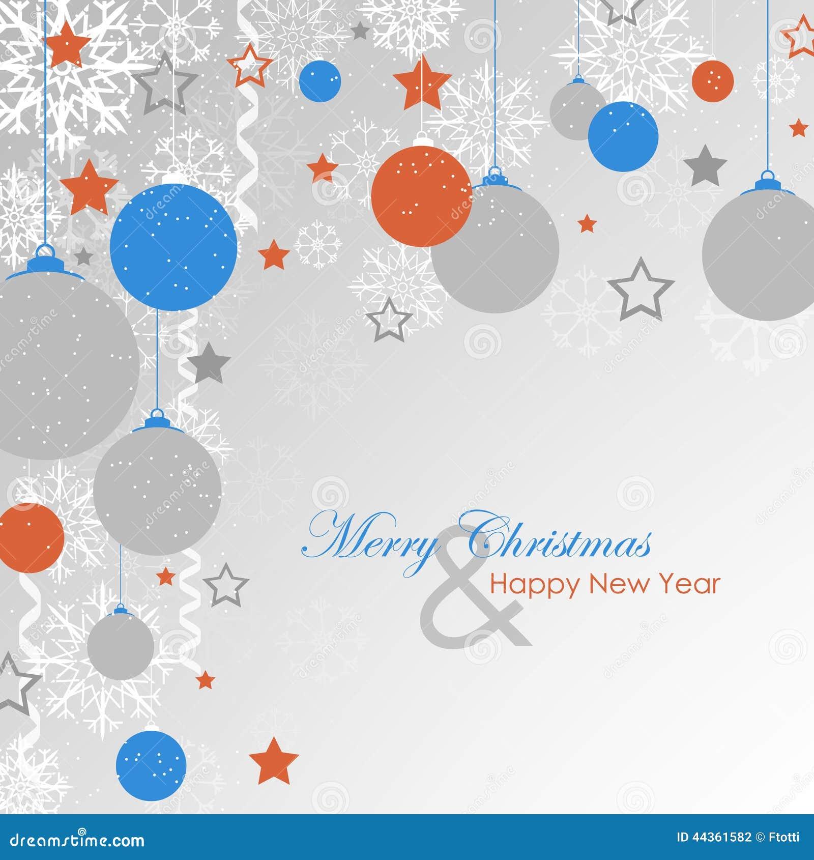 Cartolina di Natale, fondo con la decorazione di natale