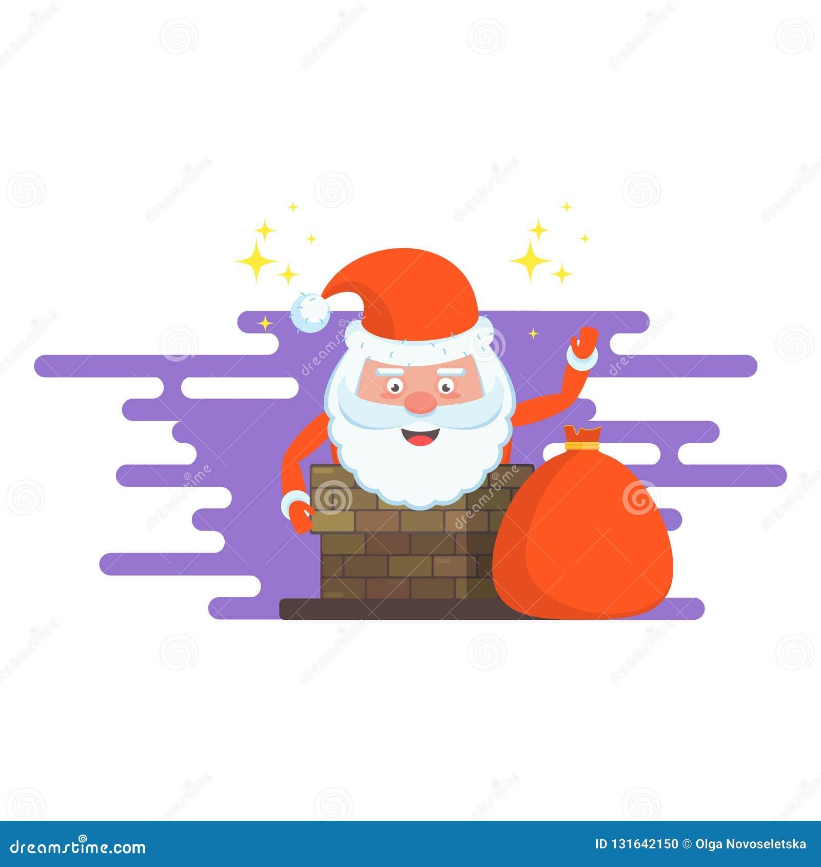 Biglietti Di Natale Divertenti.Cartoline Di Natale Felici Divertenti Del Carattere Di Santa Claus