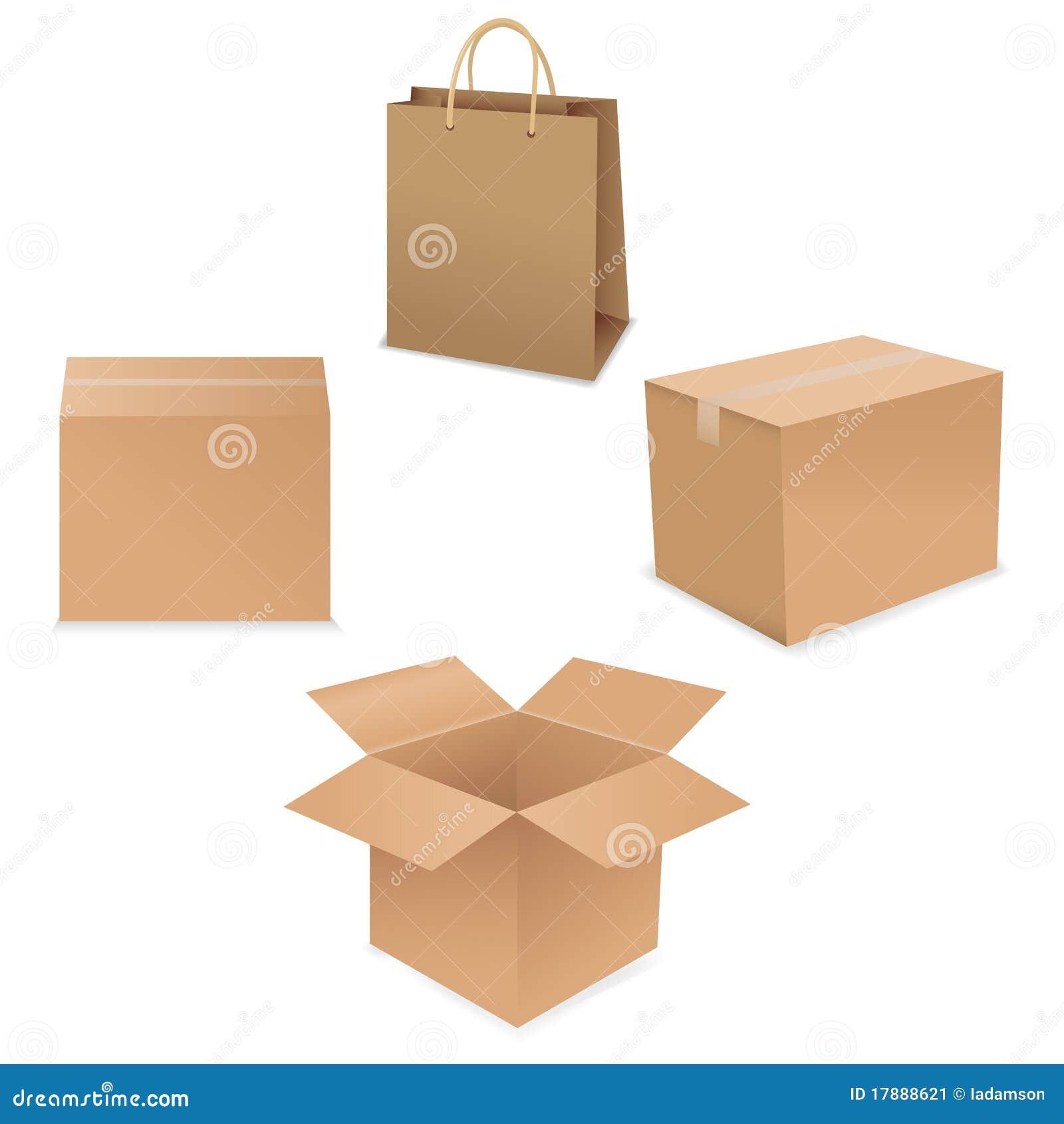 Carton d expédition. Vecteur