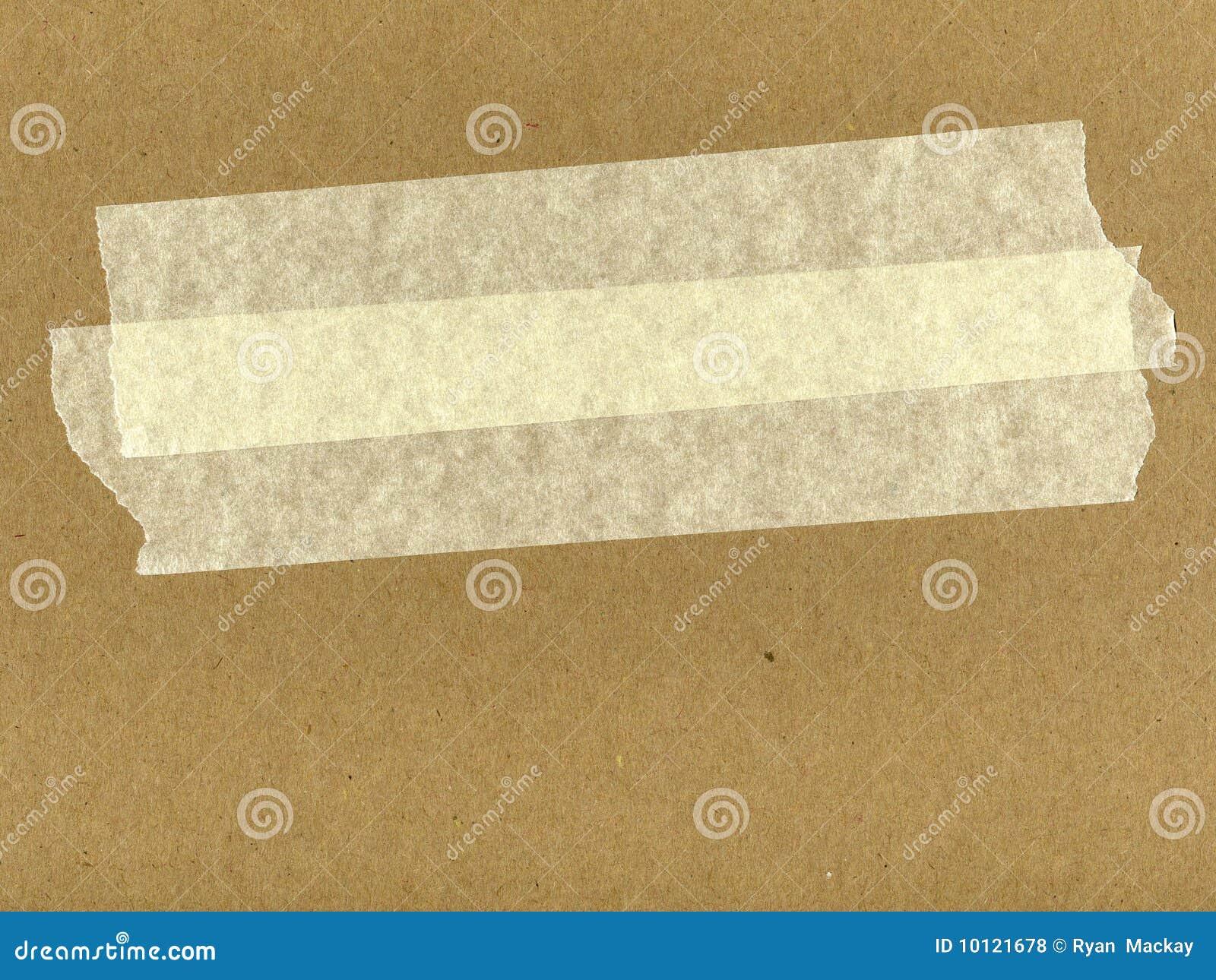 Cartone con nastro adesivo fotografia stock immagine di