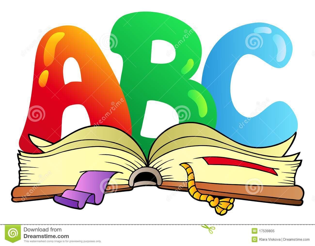 Cartoon ABC Letters With Open Book Royalty Free Stock Photo - Image ...